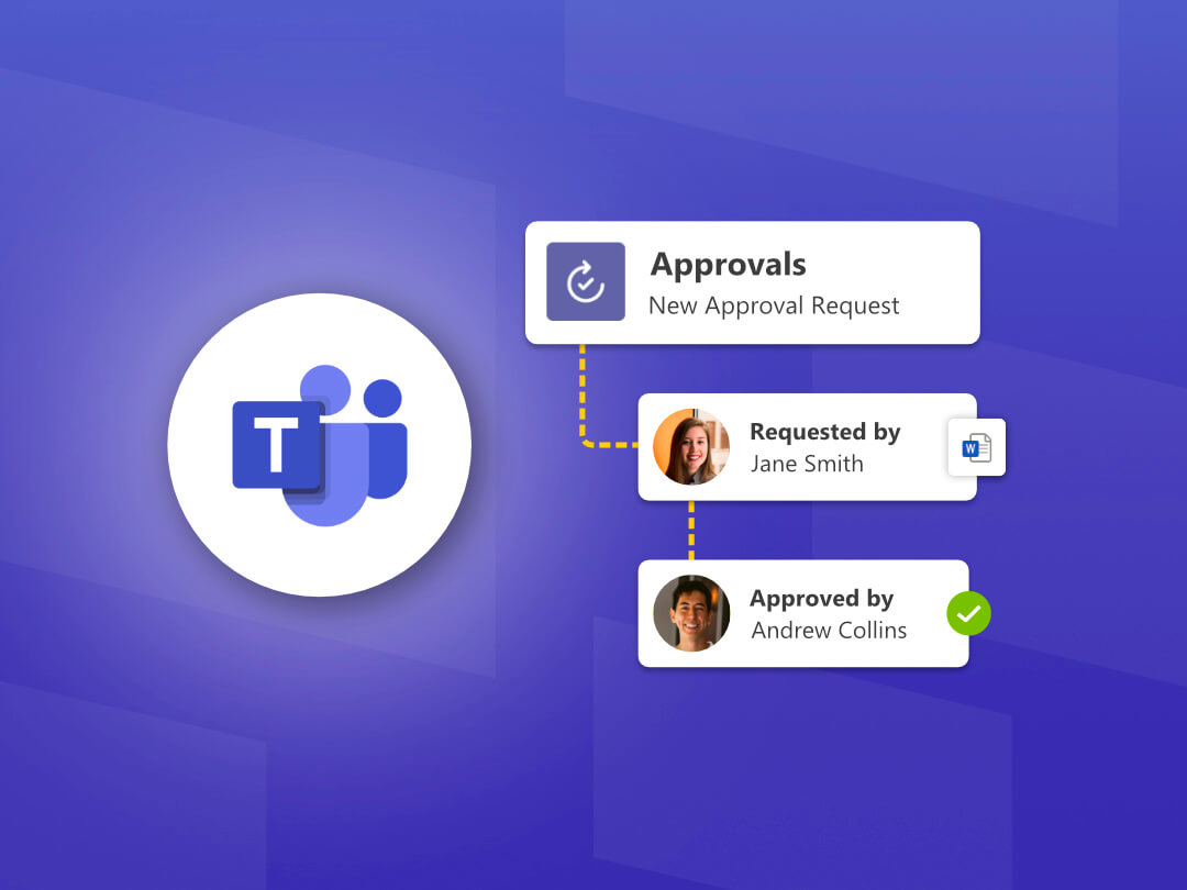 Image of the Approvals App in Microsoft Teams.