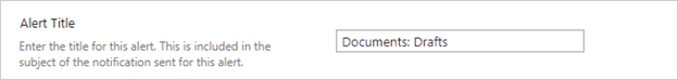 Image of setting up alerts in a document library.