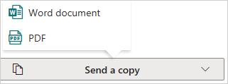 Image of sending a copy of a document via OneDrive.