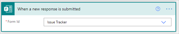 Image of connecting the Issue Tracker to a new flow in Power Automate.
