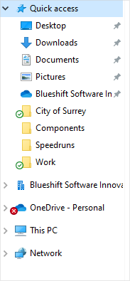 Image of the OneDrive icon in the Windows Explorer Navigation pane.