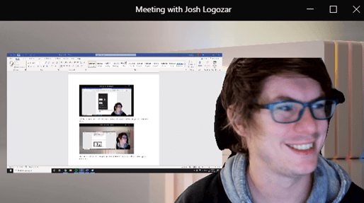Image of the 'Reporter' presenter mode option in Microsoft Teams.