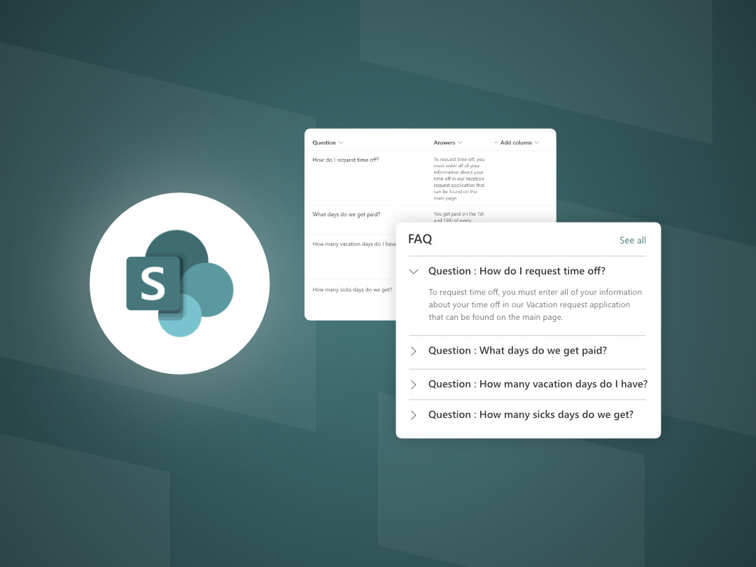 Image of How to Create a Frequently Asked Questions list in a SharePoint site.