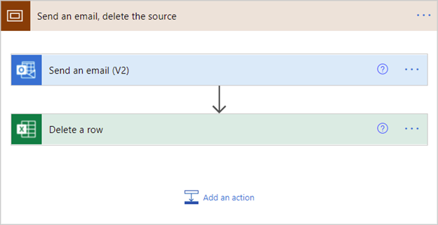 Image of actions grouped into a scope in Power Automate.