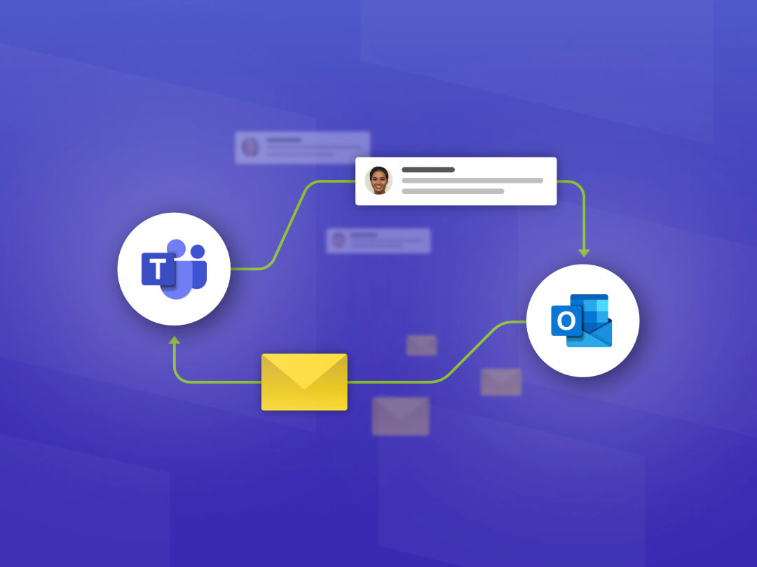 Image of Sharing Conversations and Emails Between Microsoft Teams and Outlook.
