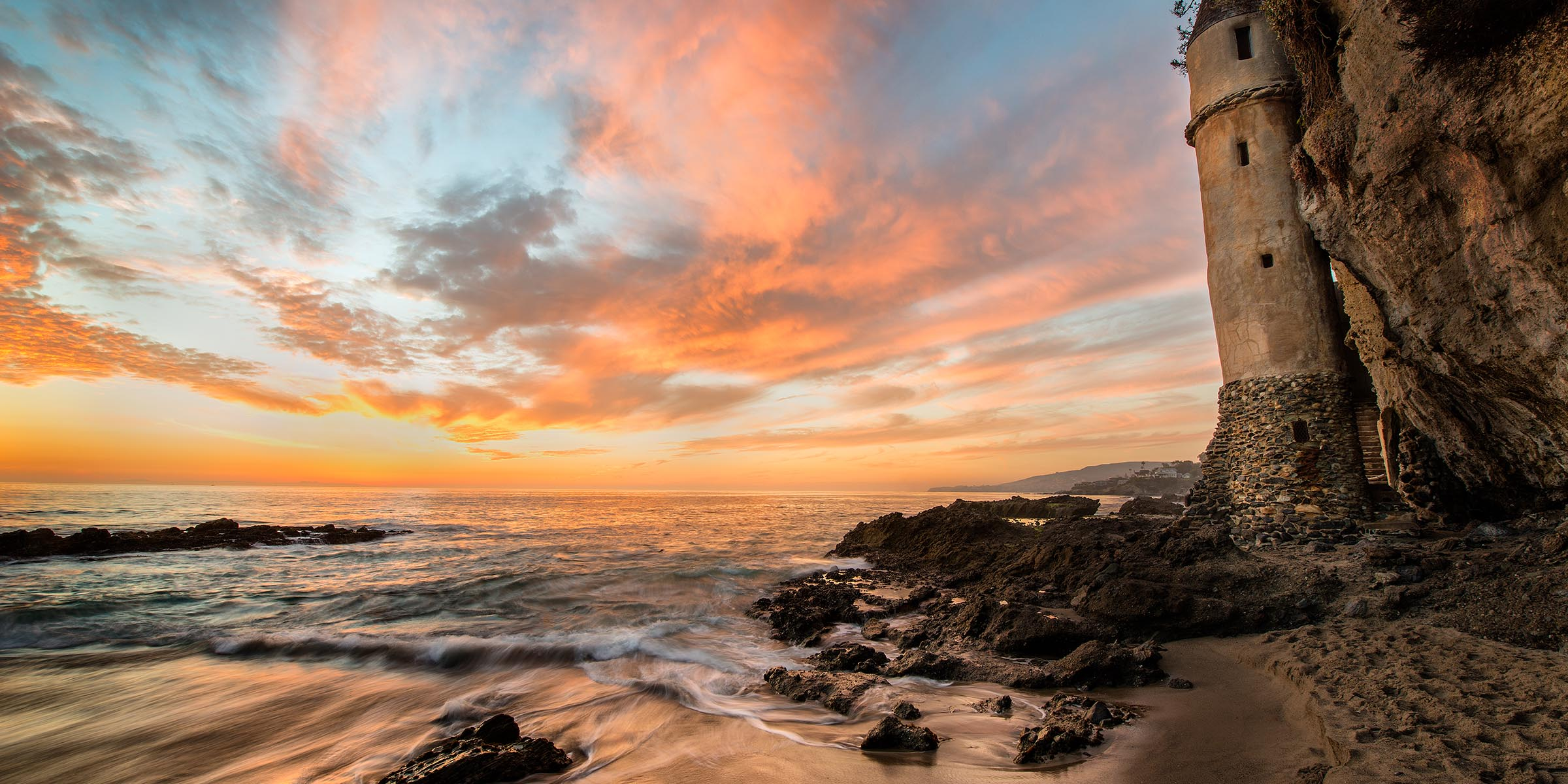 Photograph of Victoria Castle in Laguna Beach, California by Brent Goldman Photography