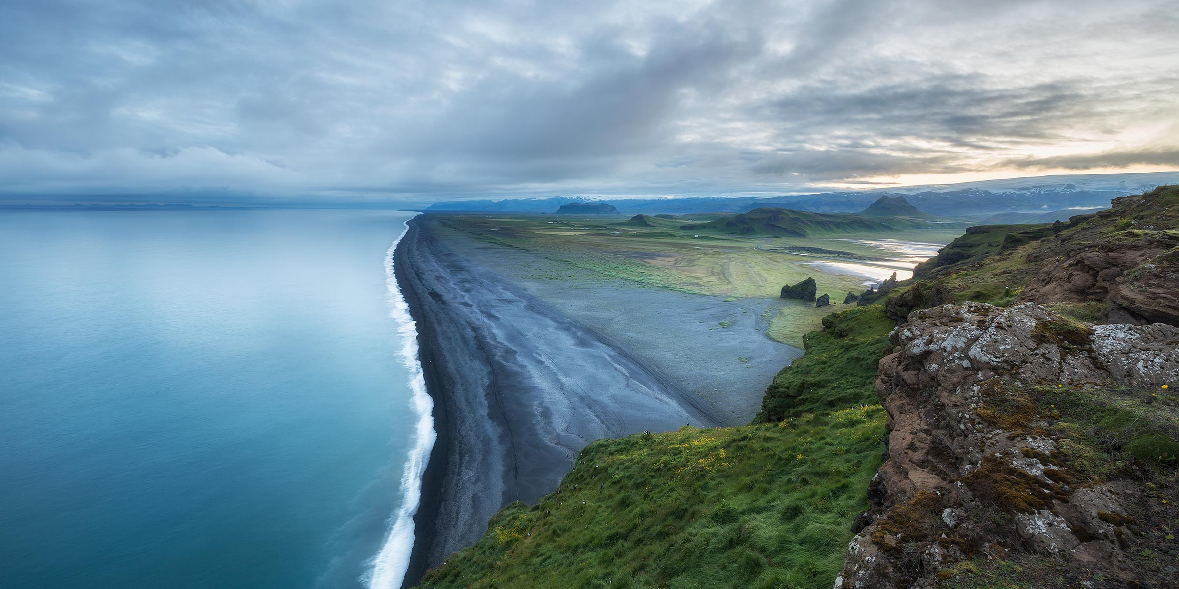 Photograph of Black Sand Beach in Dyrholaey , Iceland by Brent Goldman Photography