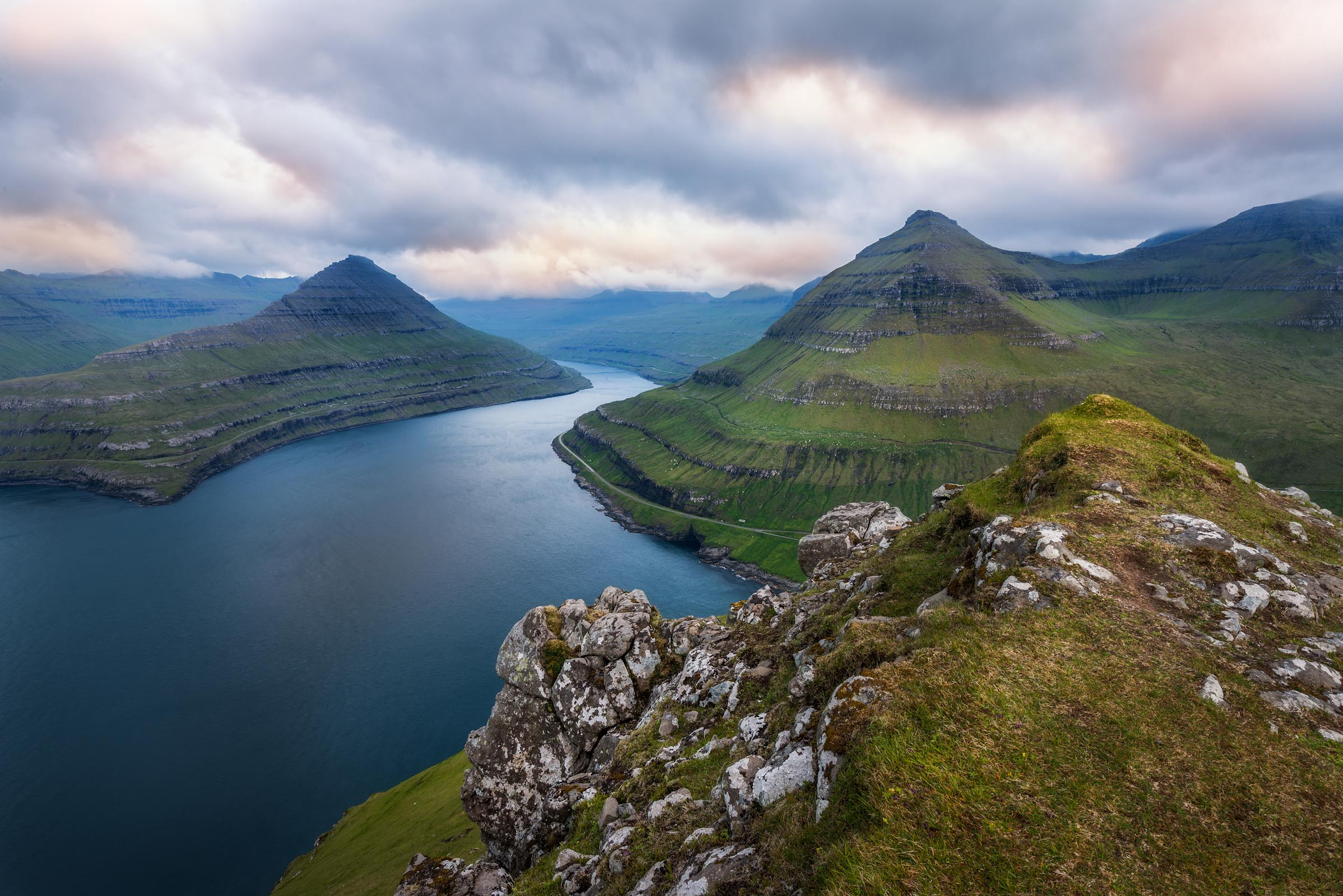 Photograph of Fjord in Gjogv, Faroe Islands by Brent Goldman Photography