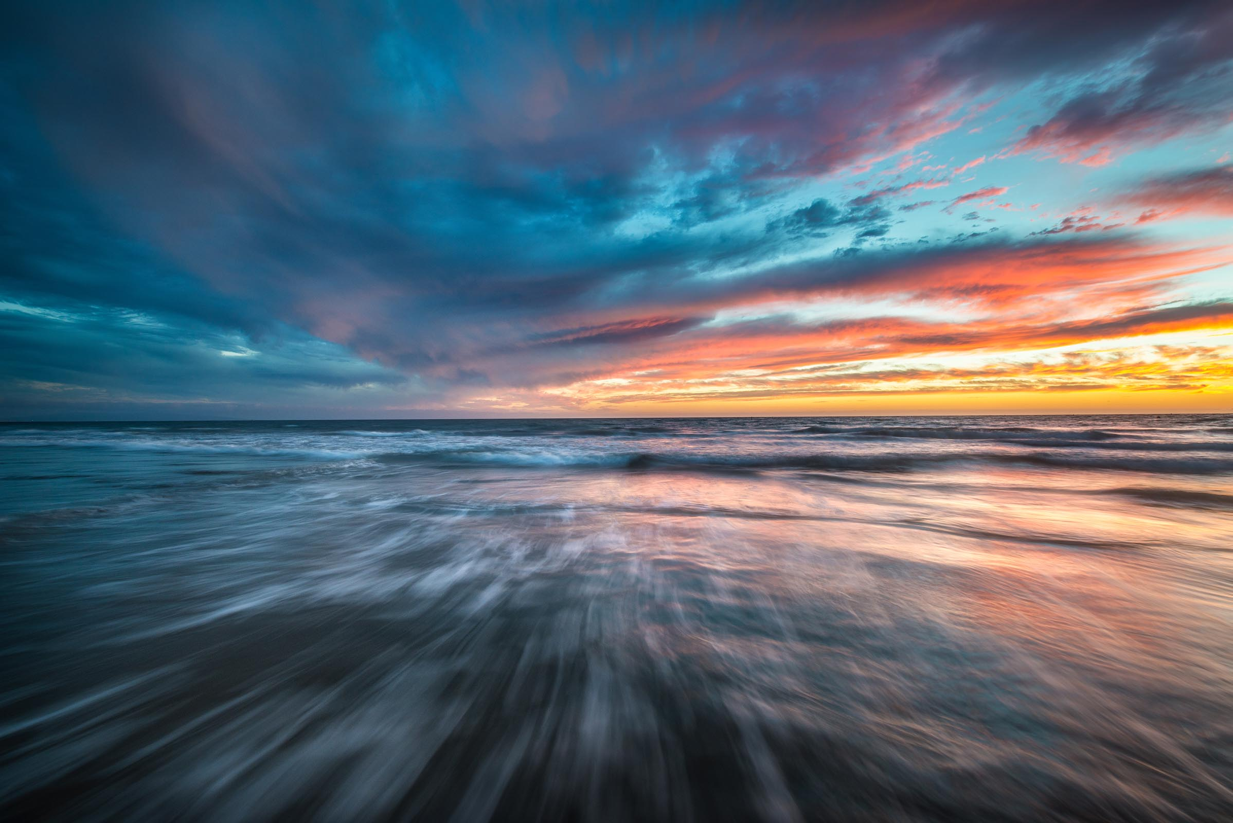 Photograph of Santa Monica Sunset in Santa Monica, California by Brent Goldman Photography