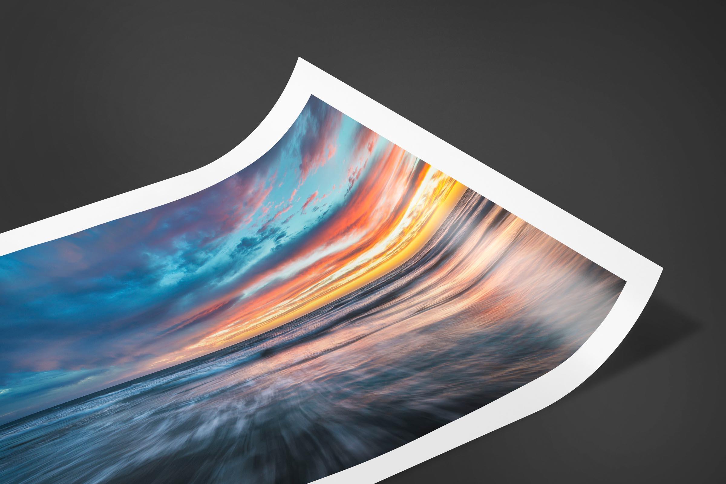Fine art limited edition print of Santa Monica Sunset in Santa Monica, California by Brent Goldman Photography