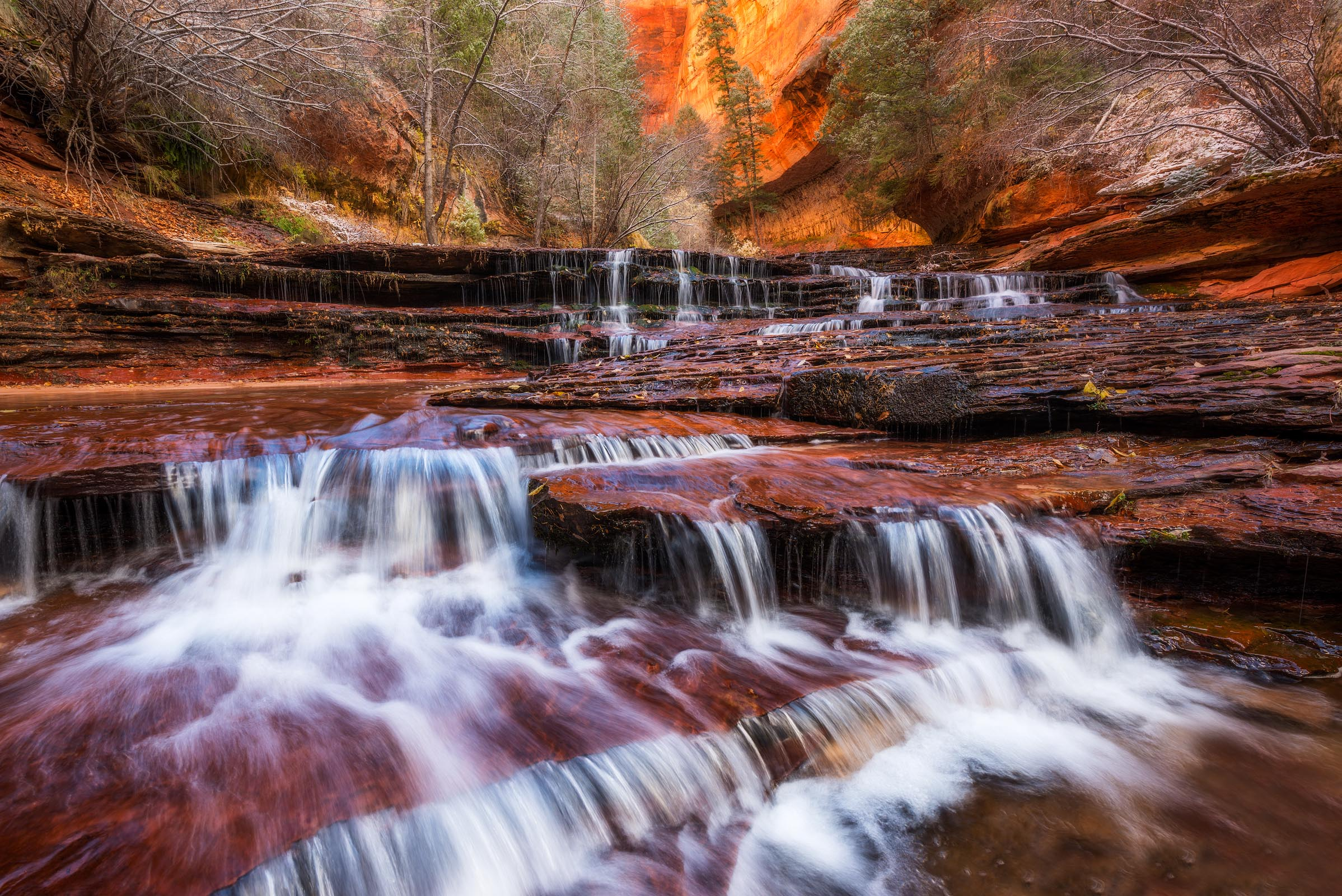 Photograph of Archangel Falls in Zion, Utah by Brent Goldman Photography