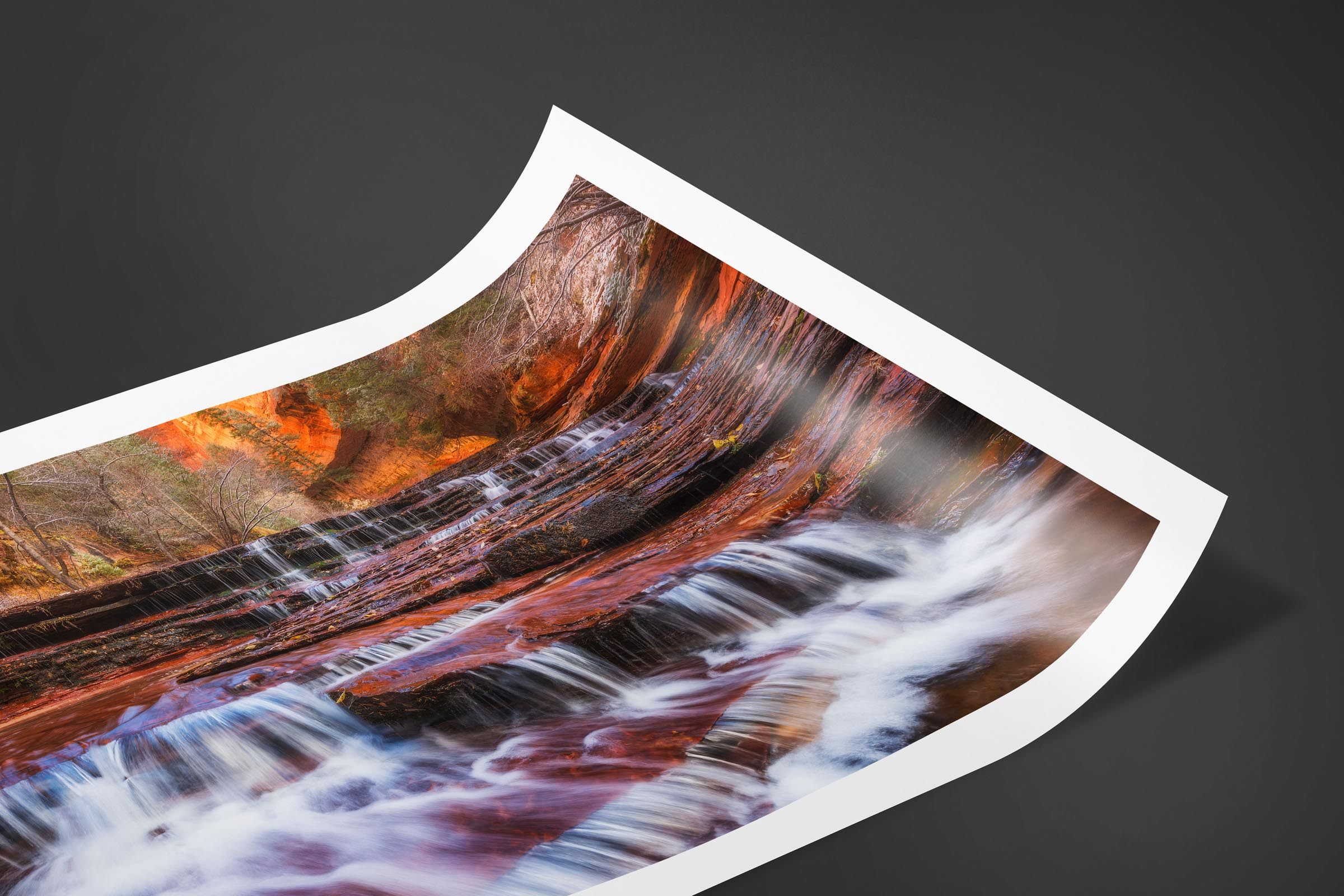 Fine art limited edition print of Archangel Falls in Zion, Utah by Brent Goldman Photography