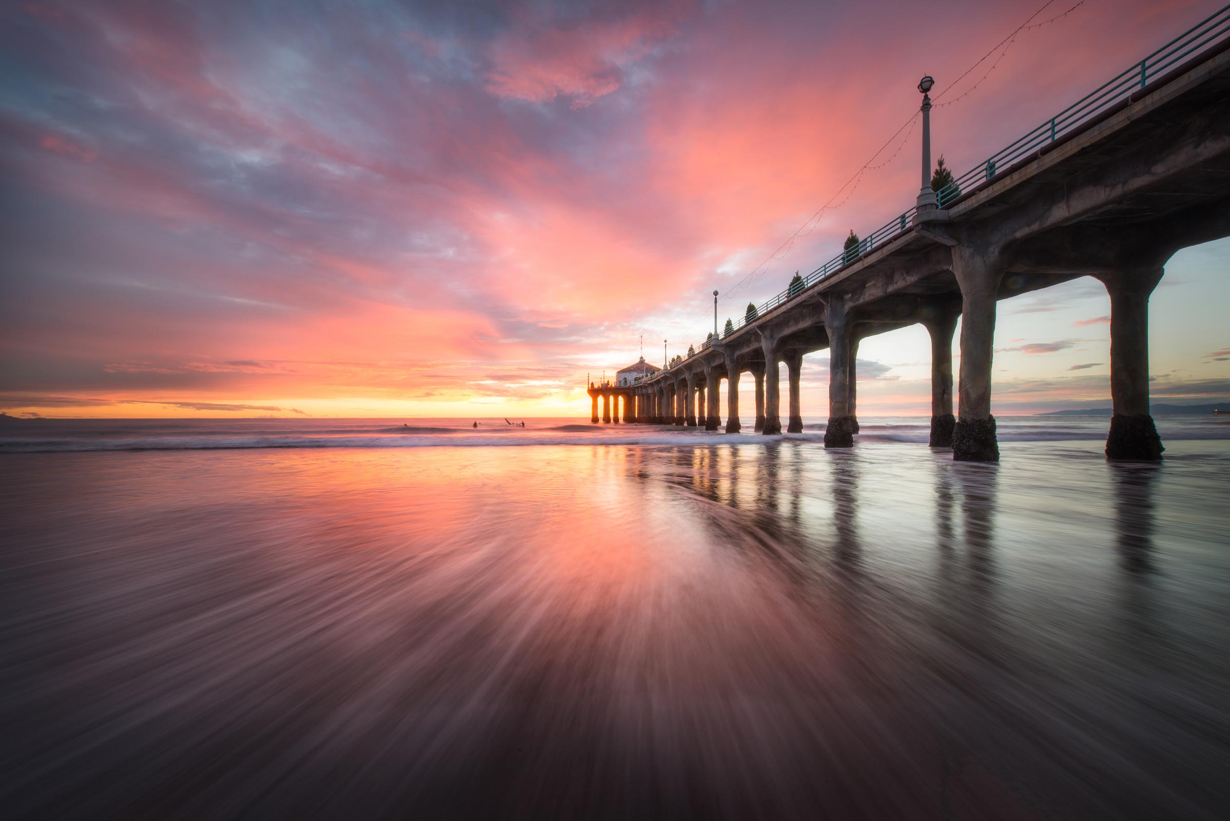 Photograph of Manhattan Beach Pier in Manhattan Beach, California by Brent Goldman Photography