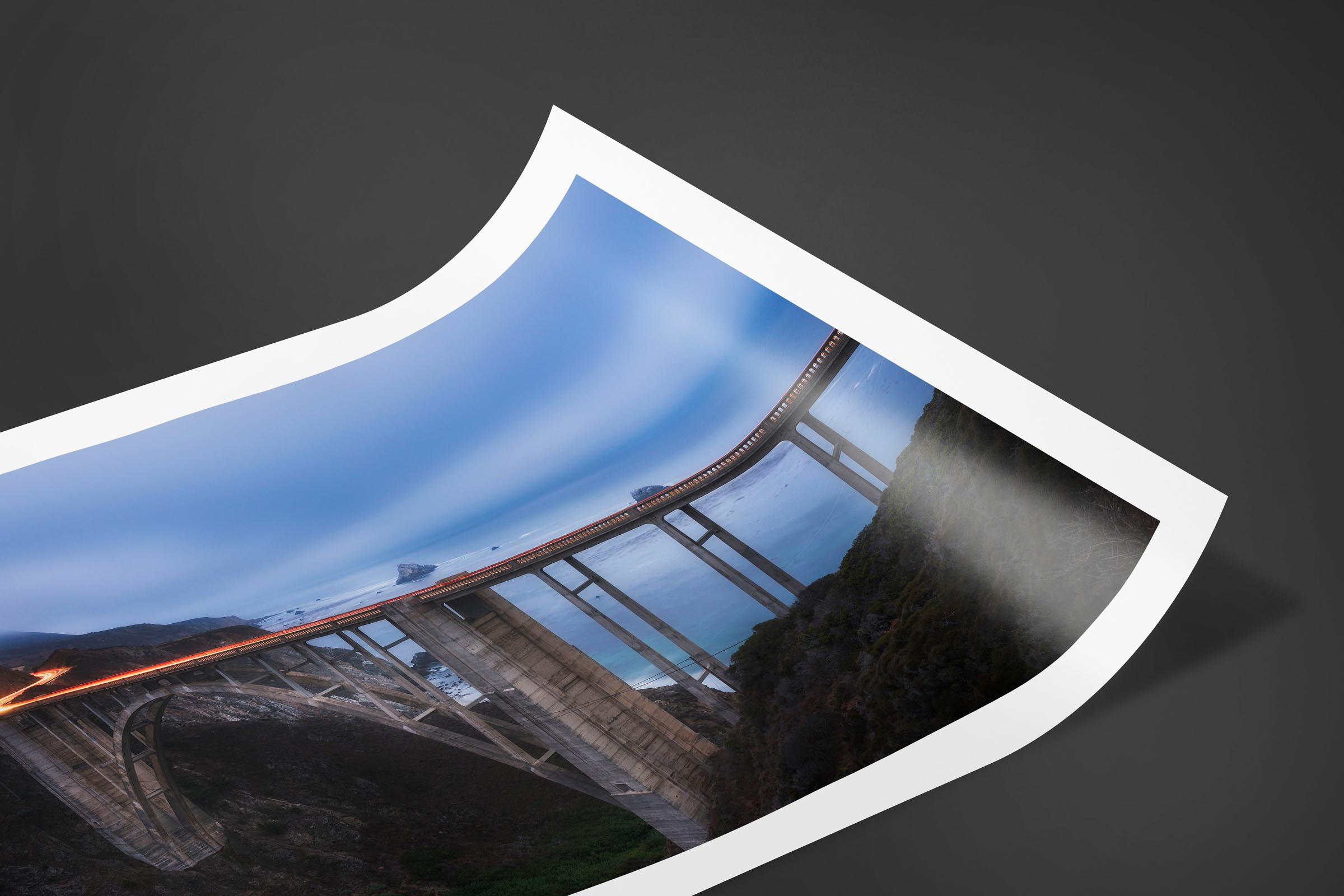 Fine art limited edition print of Bixby Bridge in Big Sur, California by Brent Goldman Photography