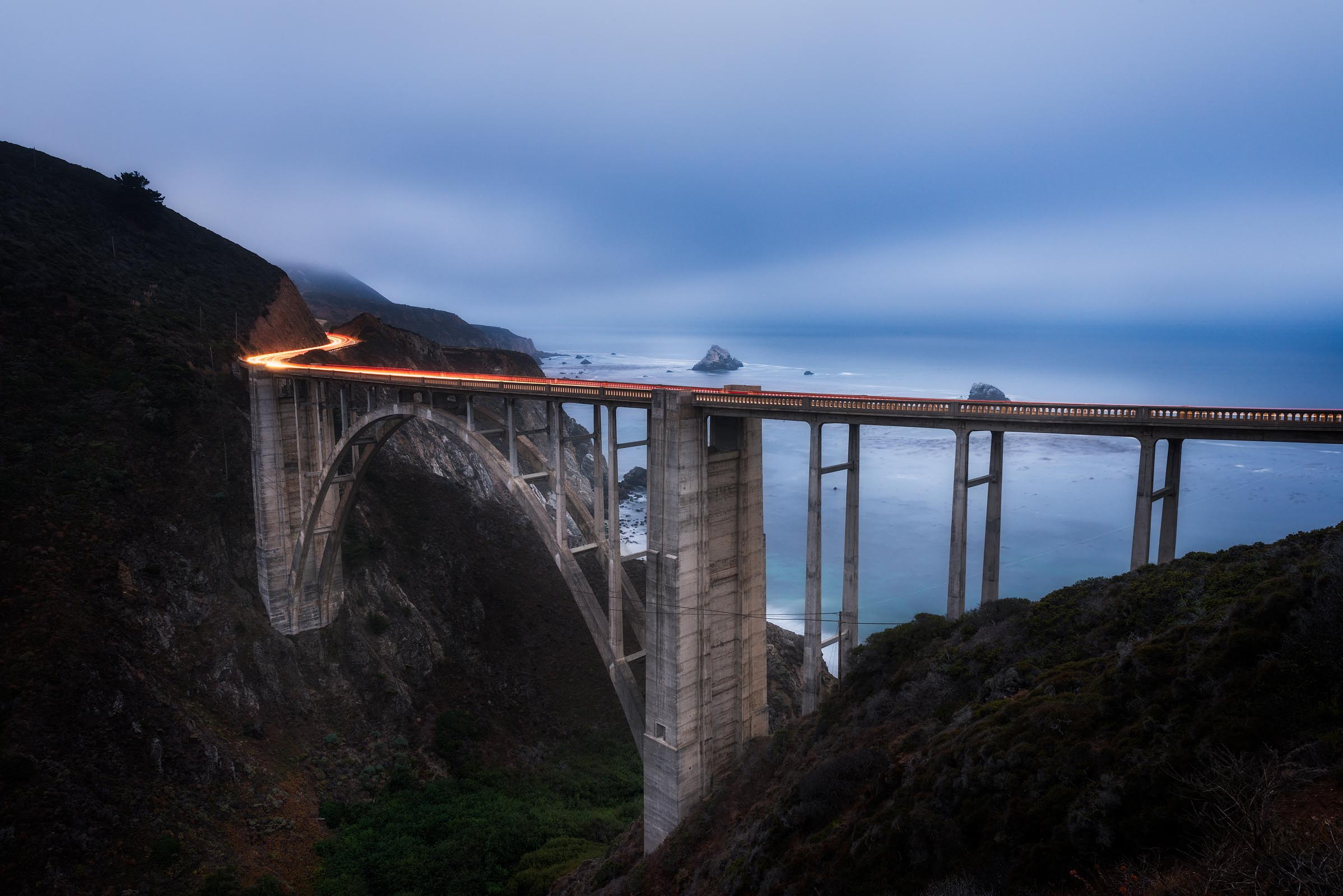 Photograph of Bixby Bridge in Big Sur, California by Brent Goldman Photography
