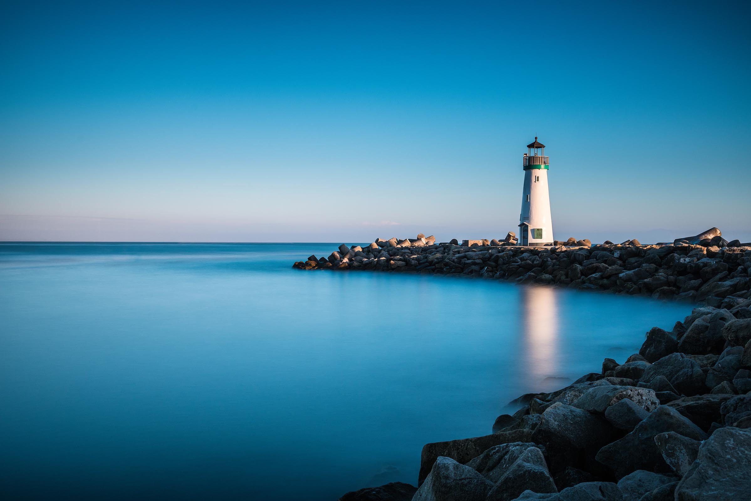 Photograph of Walton Lighthouse in Santa Cruz, California by Brent Goldman Photography