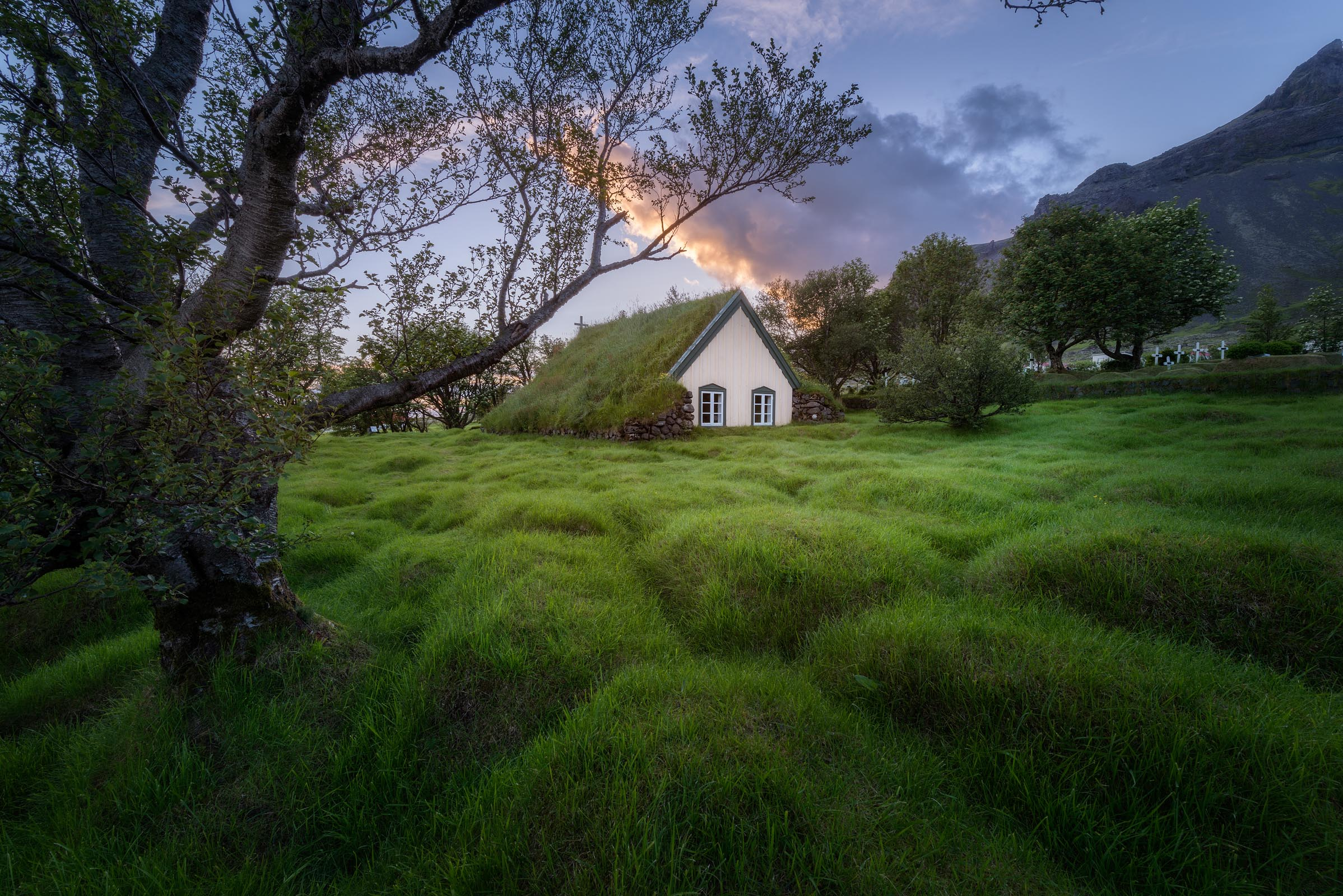 Photograph of Hofskirkja Church in Hof, Iceland by Brent Goldman Photography