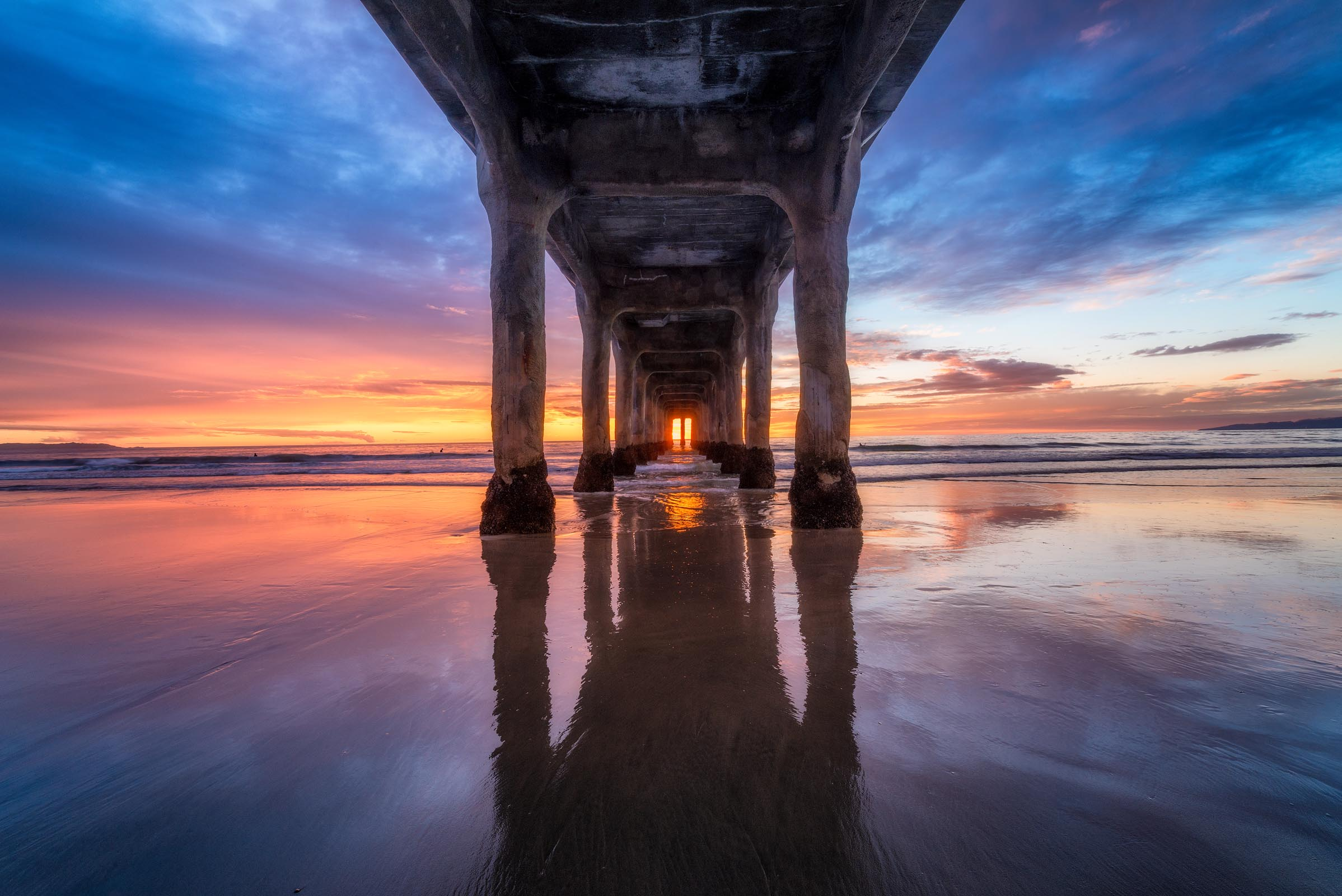 Photograph of Manhattan Beach Pier in Manhattan Beach, California by Brent Goldman Photography