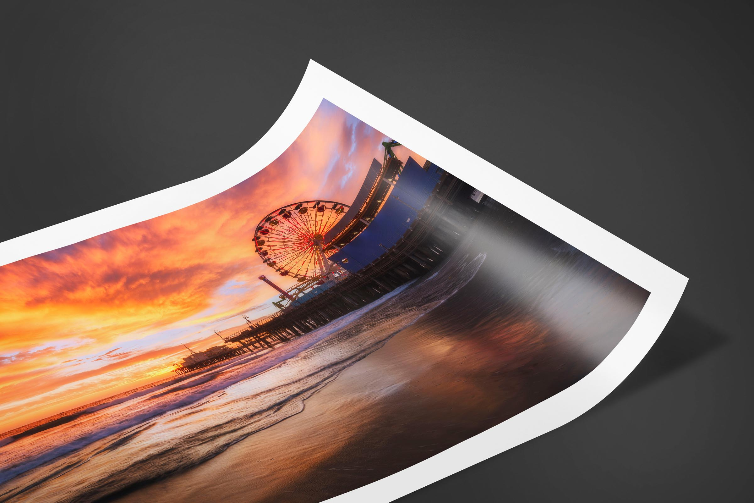 Fine art limited edition print of Santa Monica Pier in Santa Monica, California by Brent Goldman Photography