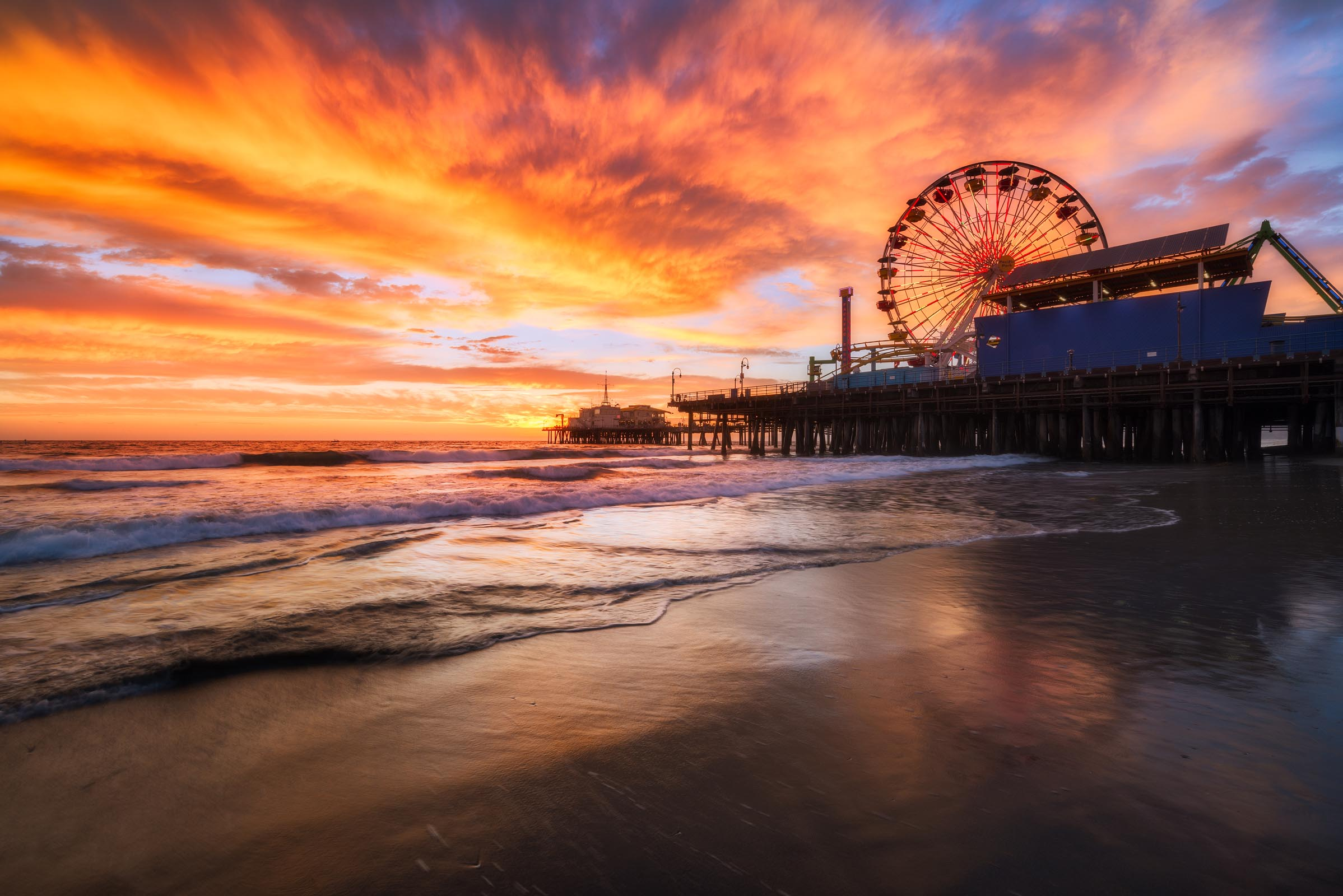 Photograph of Santa Monica Pier in Santa Monica, California by Brent Goldman Photography