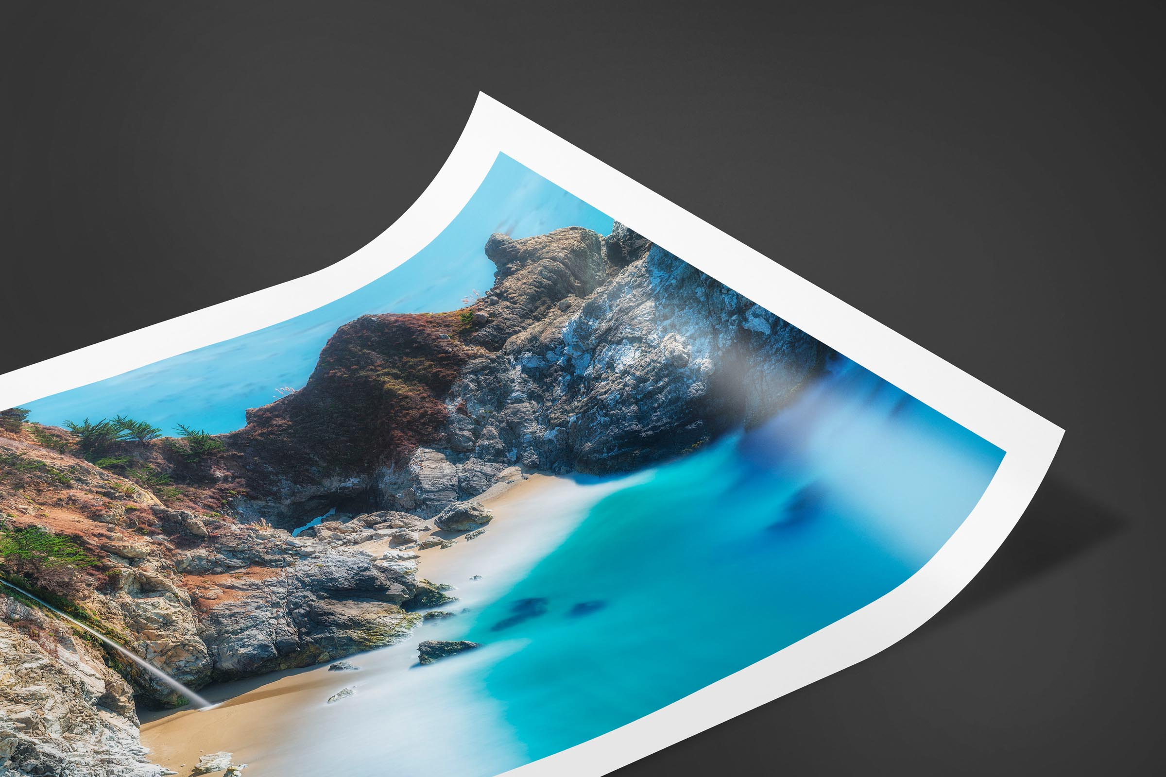 Fine art limited edition print of McWay Falls in Big Sur, California by Brent Goldman Photography