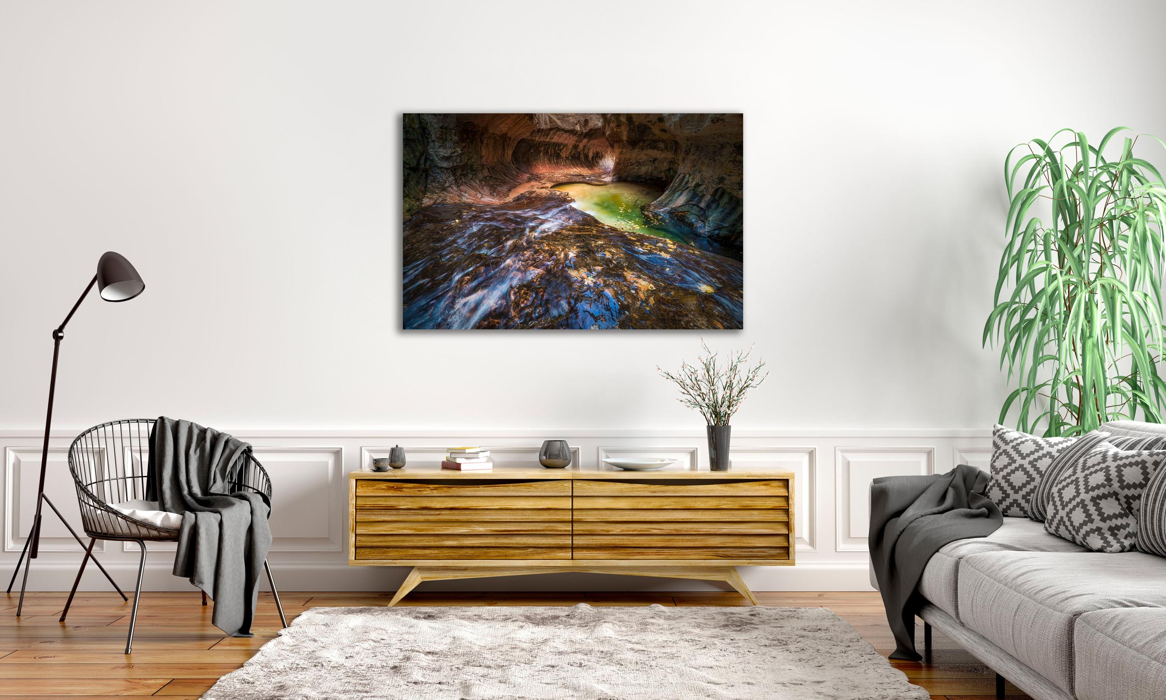 Wall art of Subway in Zion, Utah by Brent Goldman Photography