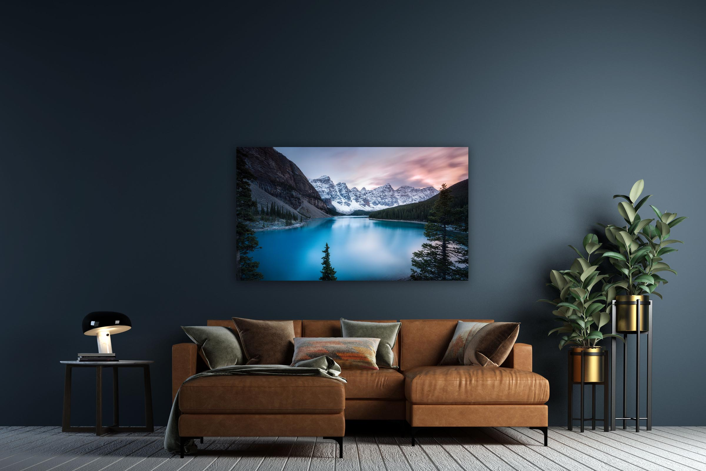 Wall art of Moraine Lake in Banff, Canada by Brent Goldman Photography