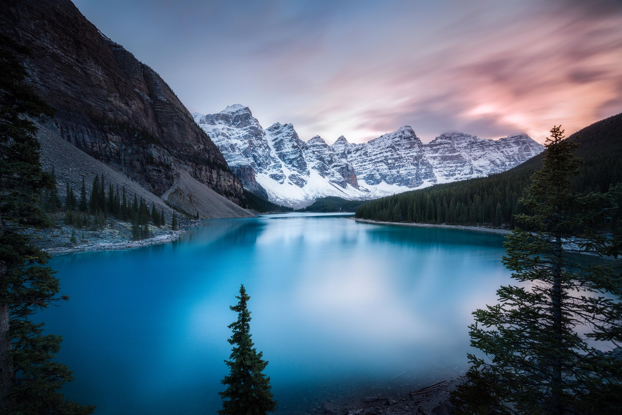Photograph of Moraine Lake in Banff, Canada by Brent Goldman Photography