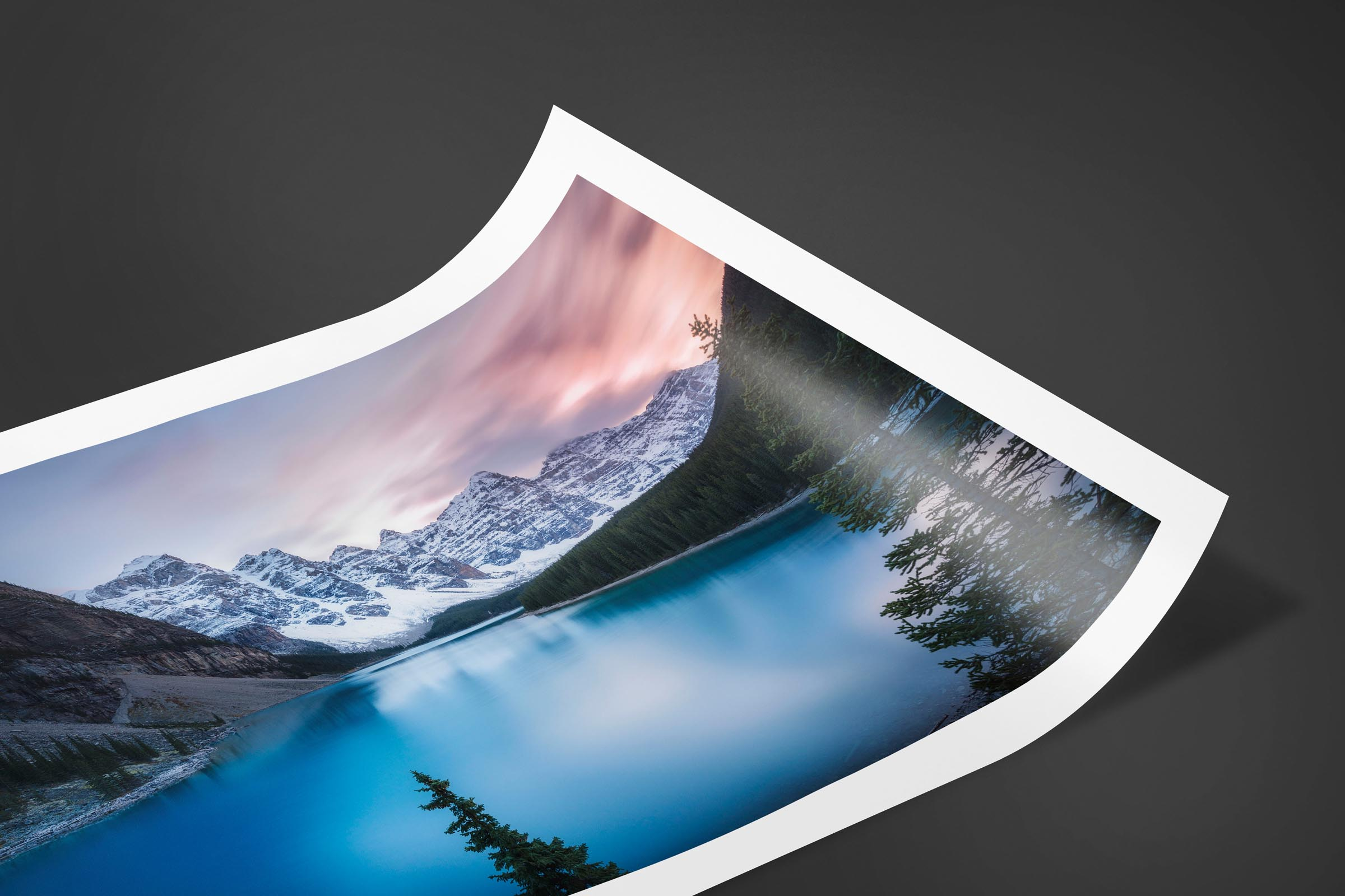Fine art limited edition print of Moraine Lake in Banff, Canada by Brent Goldman Photography