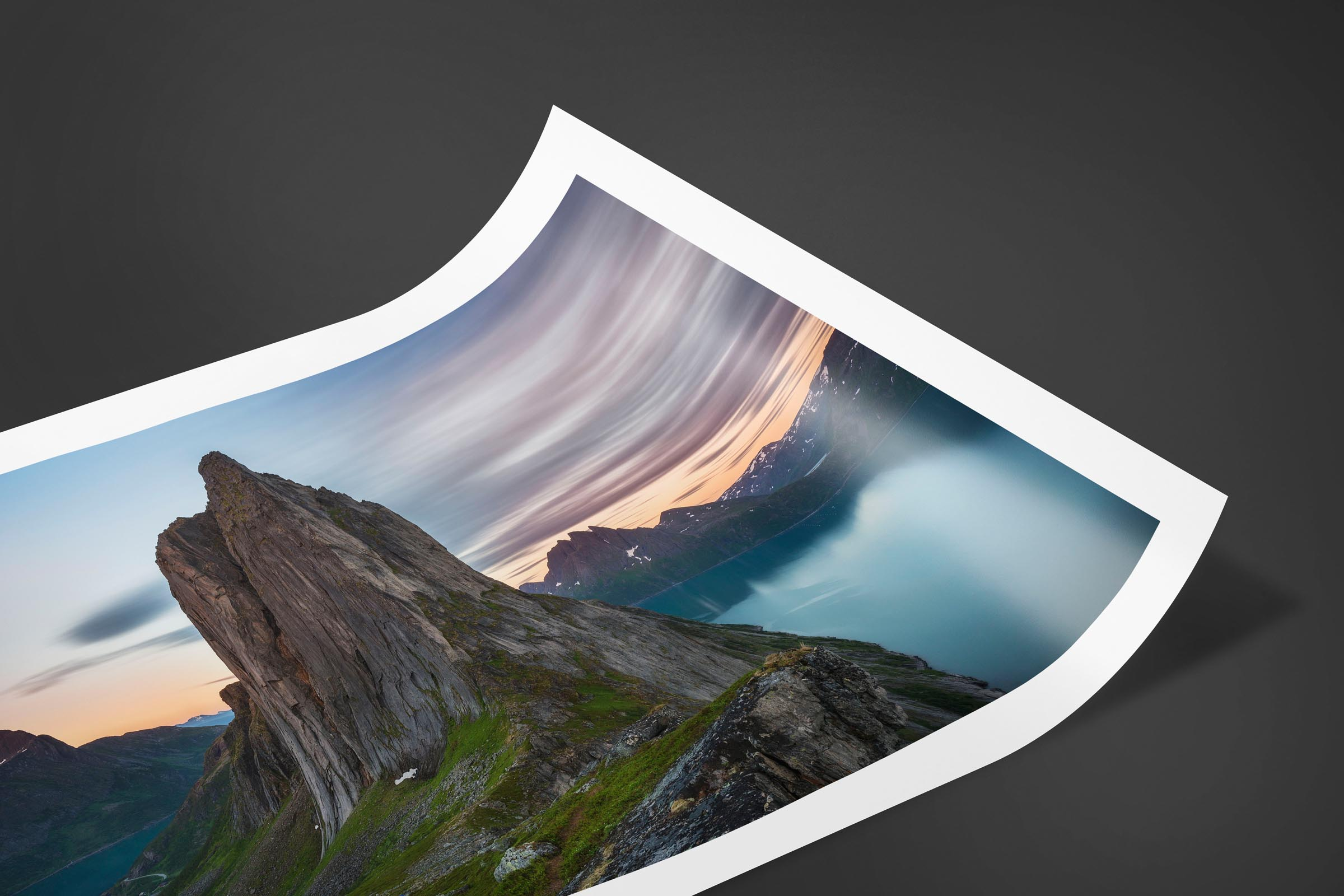 Fine art limited edition print of Segla Mountain in Senja, Norway by Brent Goldman Photography