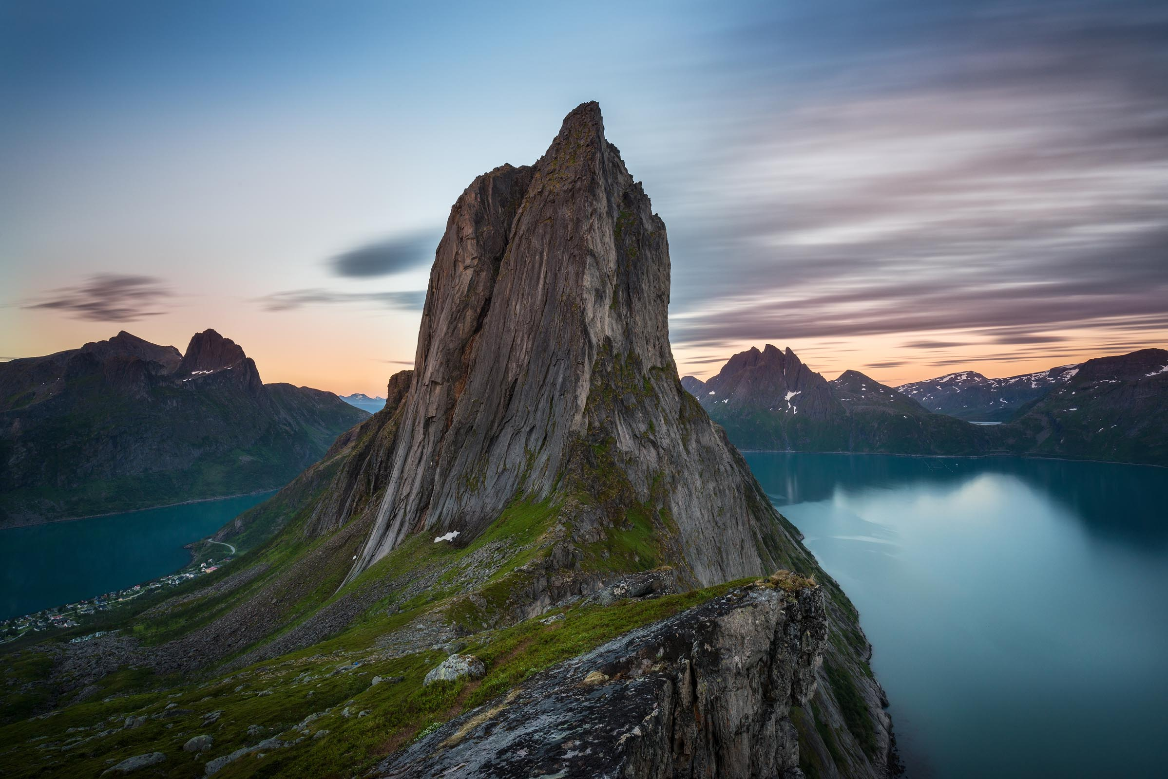 Photograph of Segla Mountain in Senja, Norway by Brent Goldman Photography