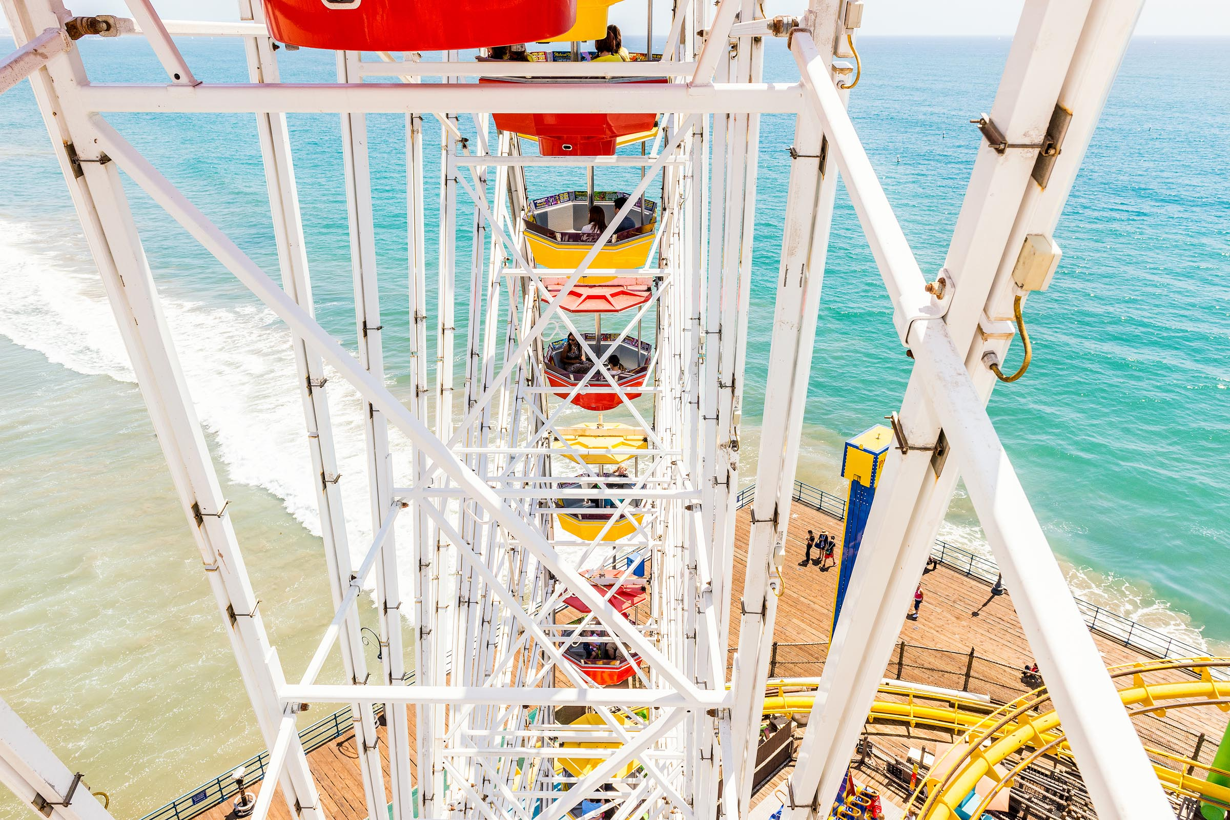 Photograph of Ferris Wheel in Santa Monica, California by Brent Goldman Photography