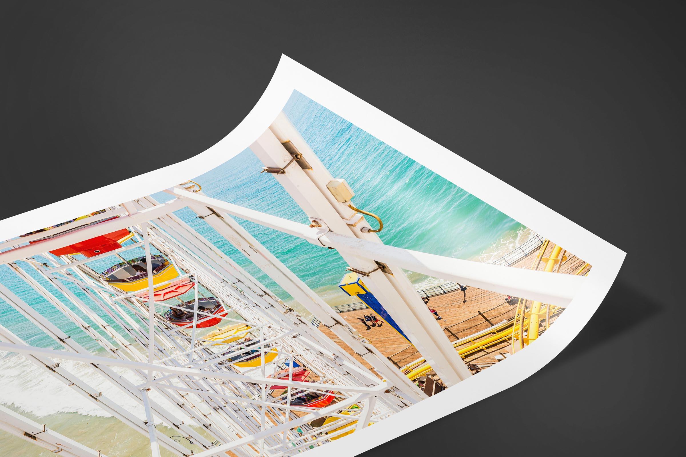 Fine art limited edition print of Ferris Wheel in Santa Monica, California by Brent Goldman Photography