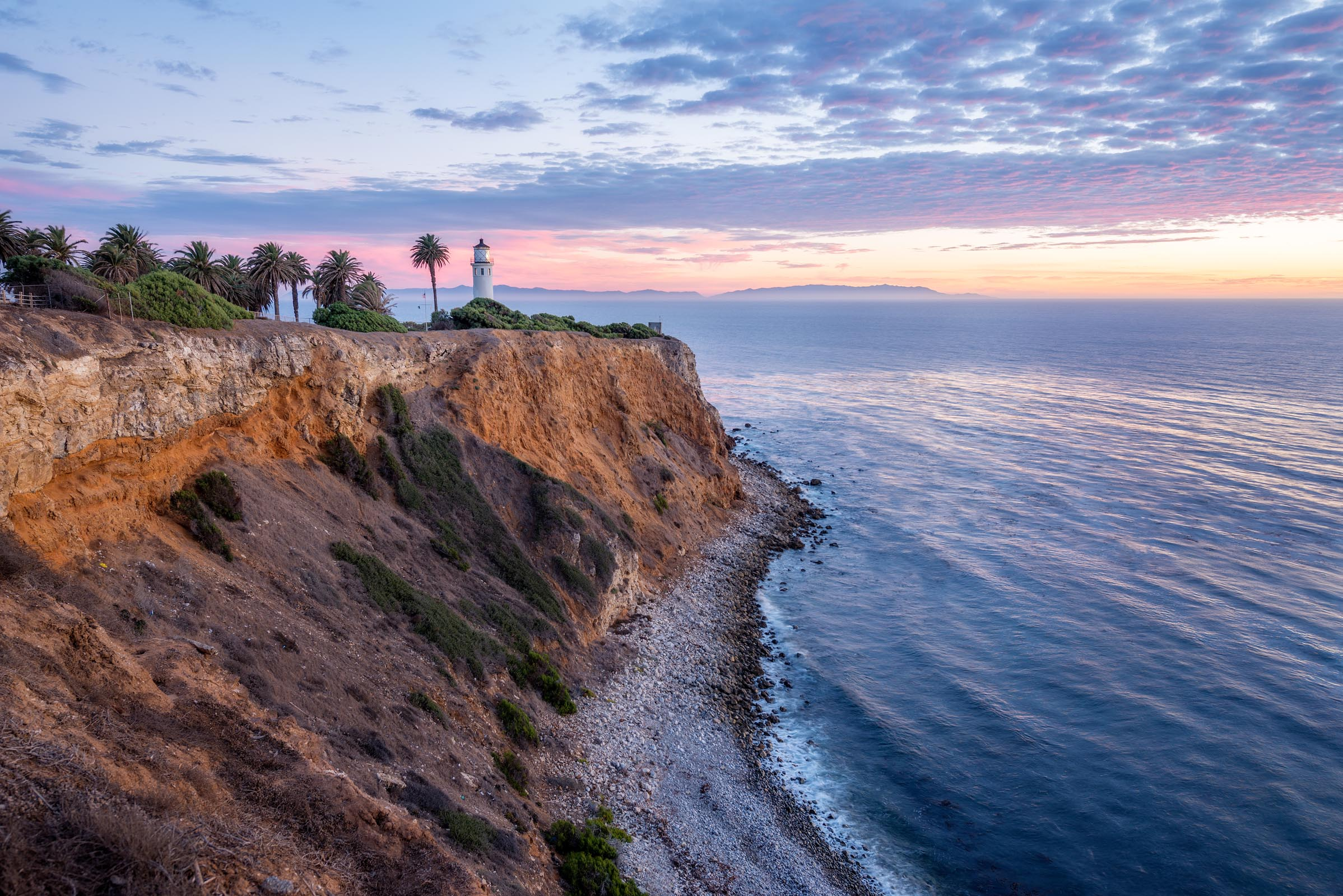 Photograph of Point Vicente Lighthouse in Palos Verdes, California by Brent Goldman Photography