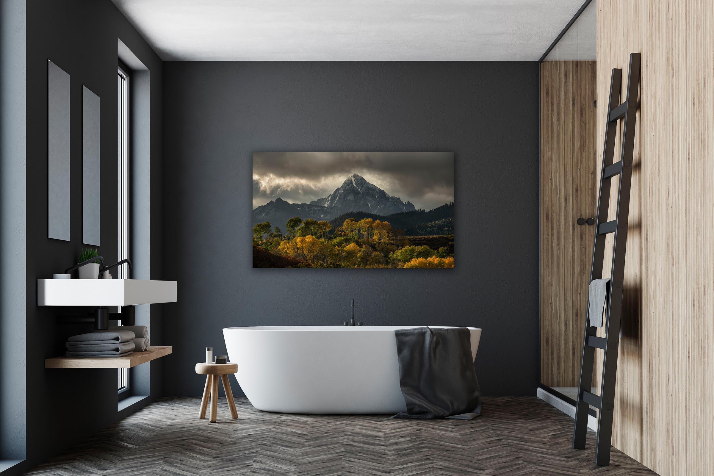 Wall art of Mt Sneffels in Ouray, Colorado by Brent Goldman Photography