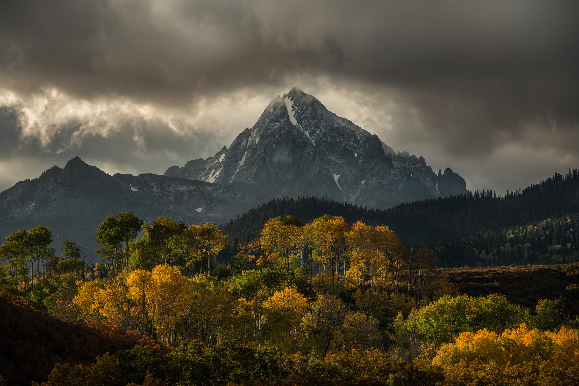 Photograph of Mt Sneffels in Ouray, Colorado by Brent Goldman Photography