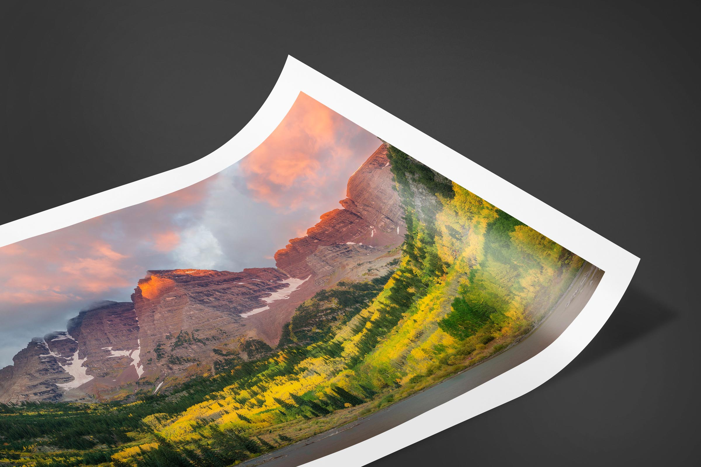 Fine art limited edition print of Maroon Bells in Aspen, Colorado by Brent Goldman Photography