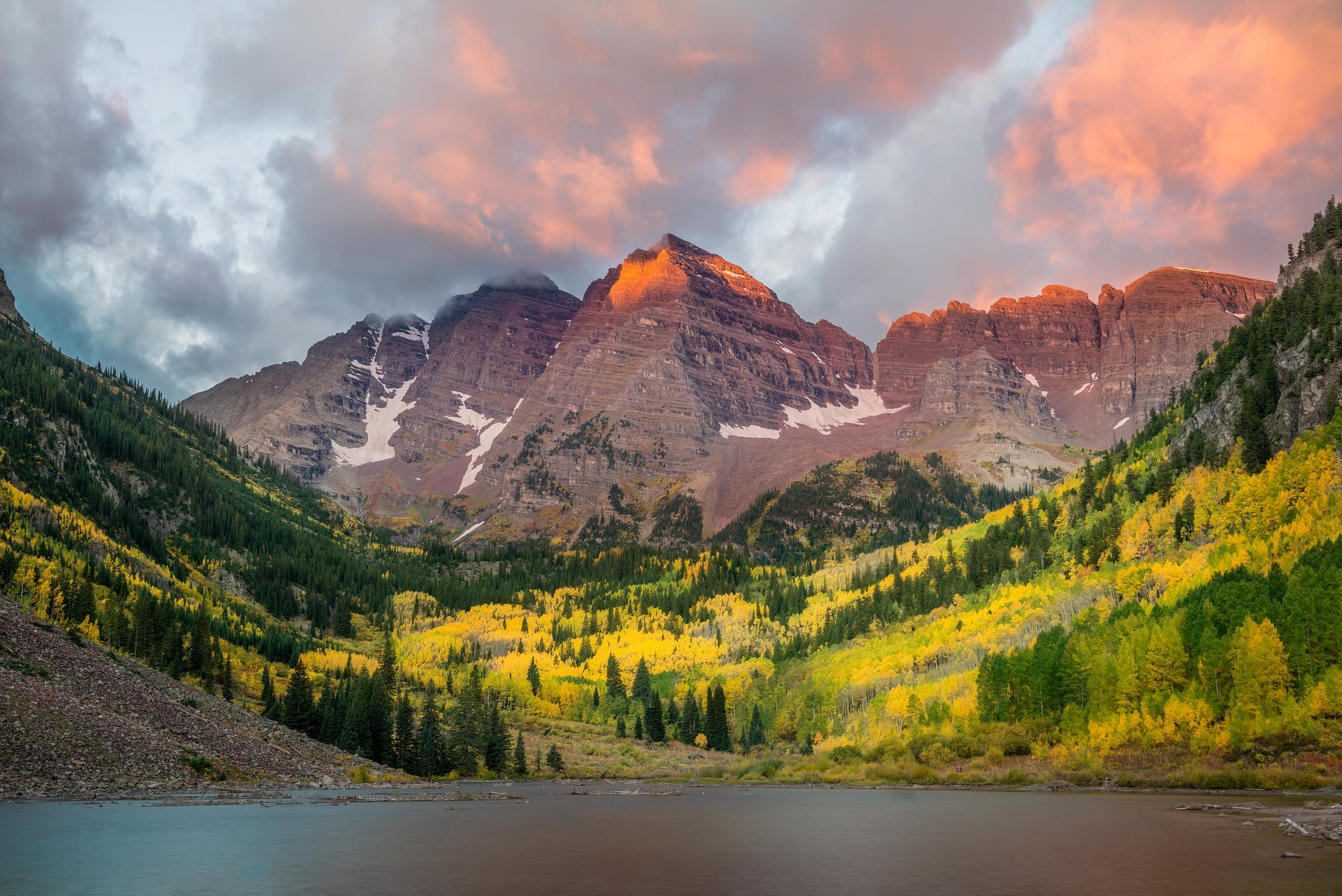 Photograph of Maroon Bells in Aspen, Colorado by Brent Goldman Photography