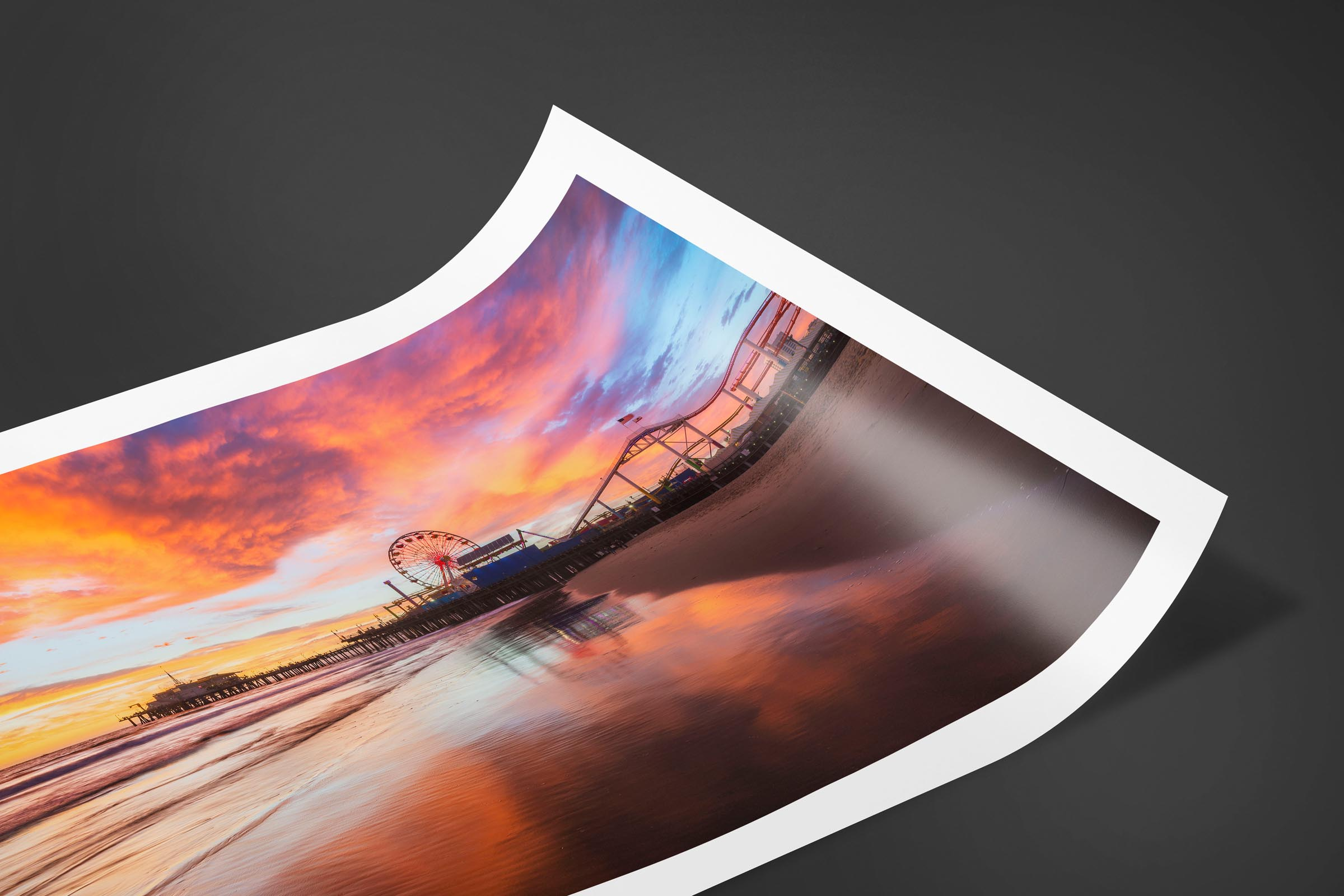 Fine art limited edition print of Santa Monica Pier in Santa Monica, California by Brent Goldman Photography