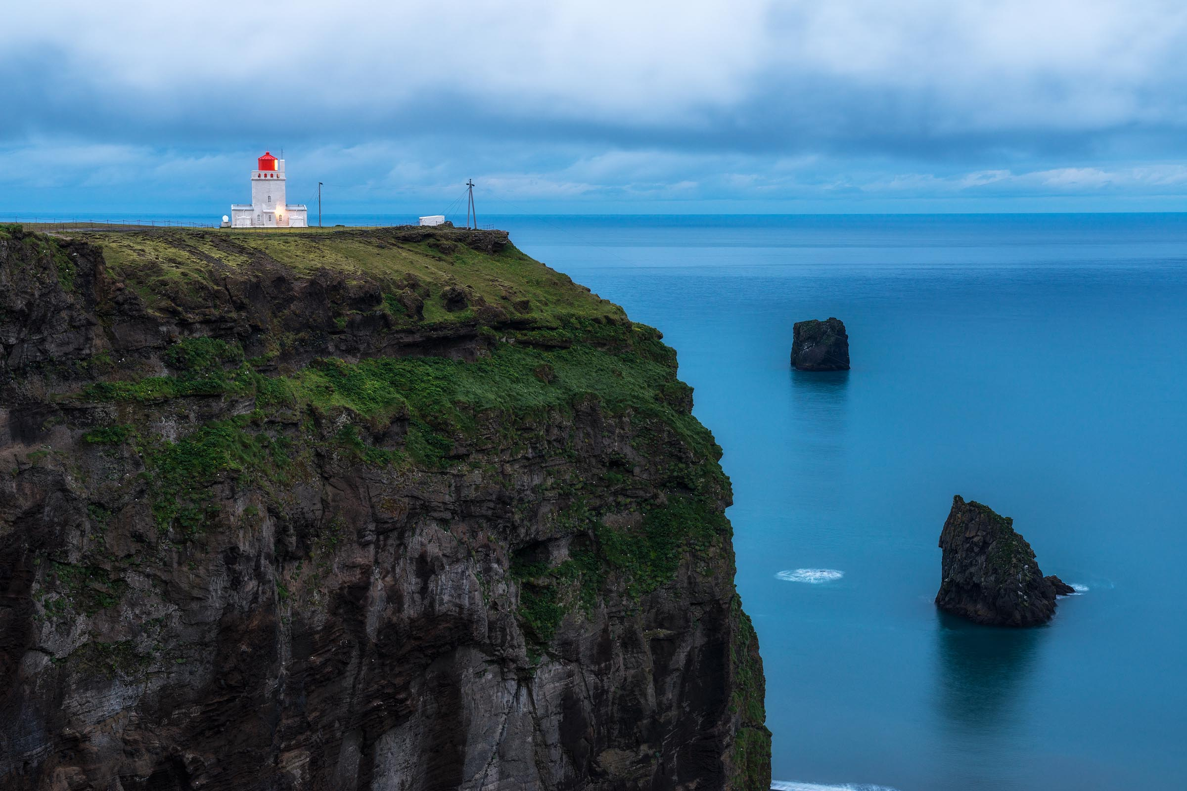 Photograph of Dyrholaey Lighthouse in Vik, Iceland by Brent Goldman Photography