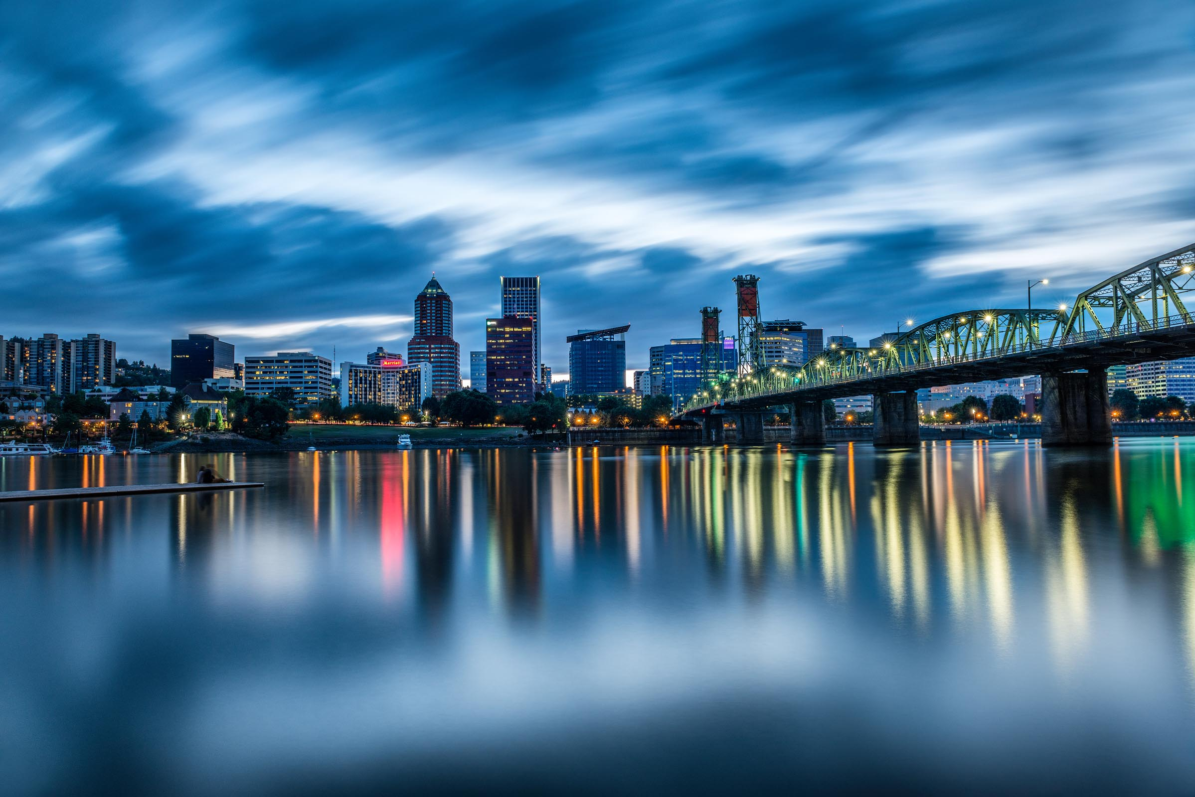 Photograph of Hawthorne Bridge in Portland, Oregon by Brent Goldman Photography