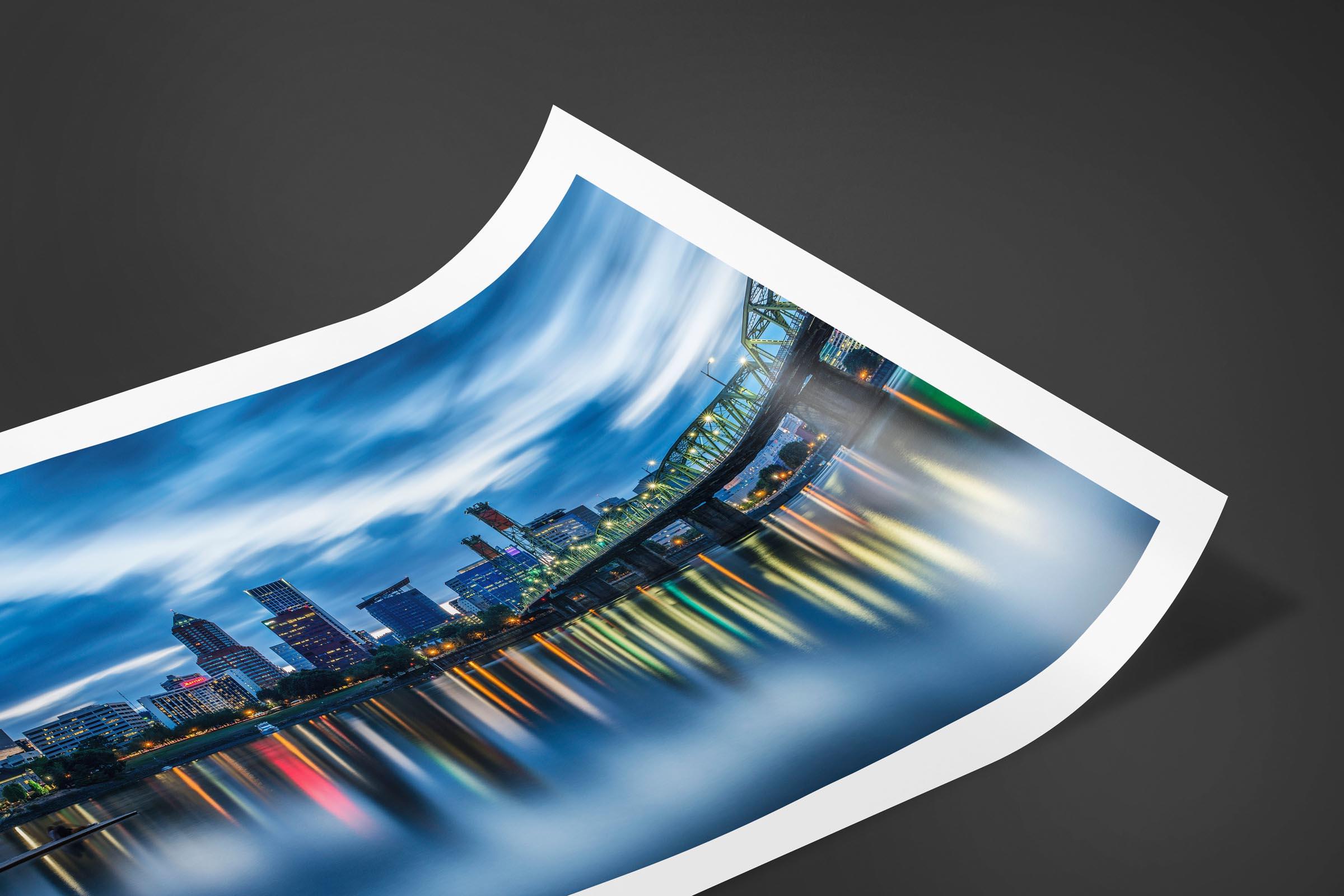 Fine art limited edition print of Hawthorne Bridge in Portland, Oregon by Brent Goldman Photography