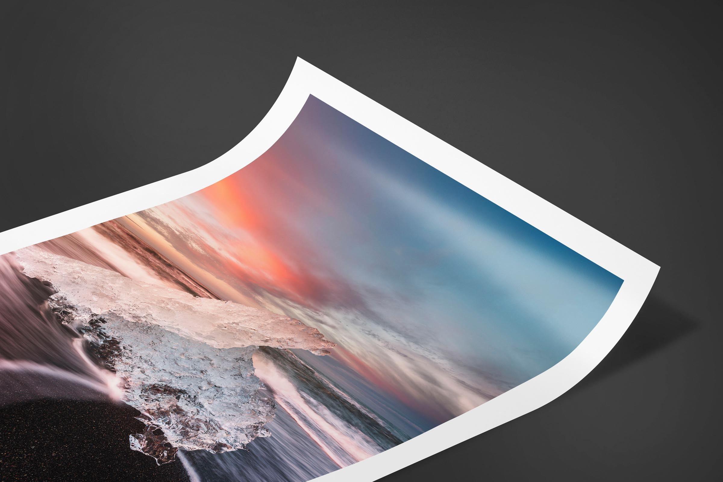 Fine art limited edition print of Ice Beach in Jokulsarlon, Iceland by Brent Goldman Photography