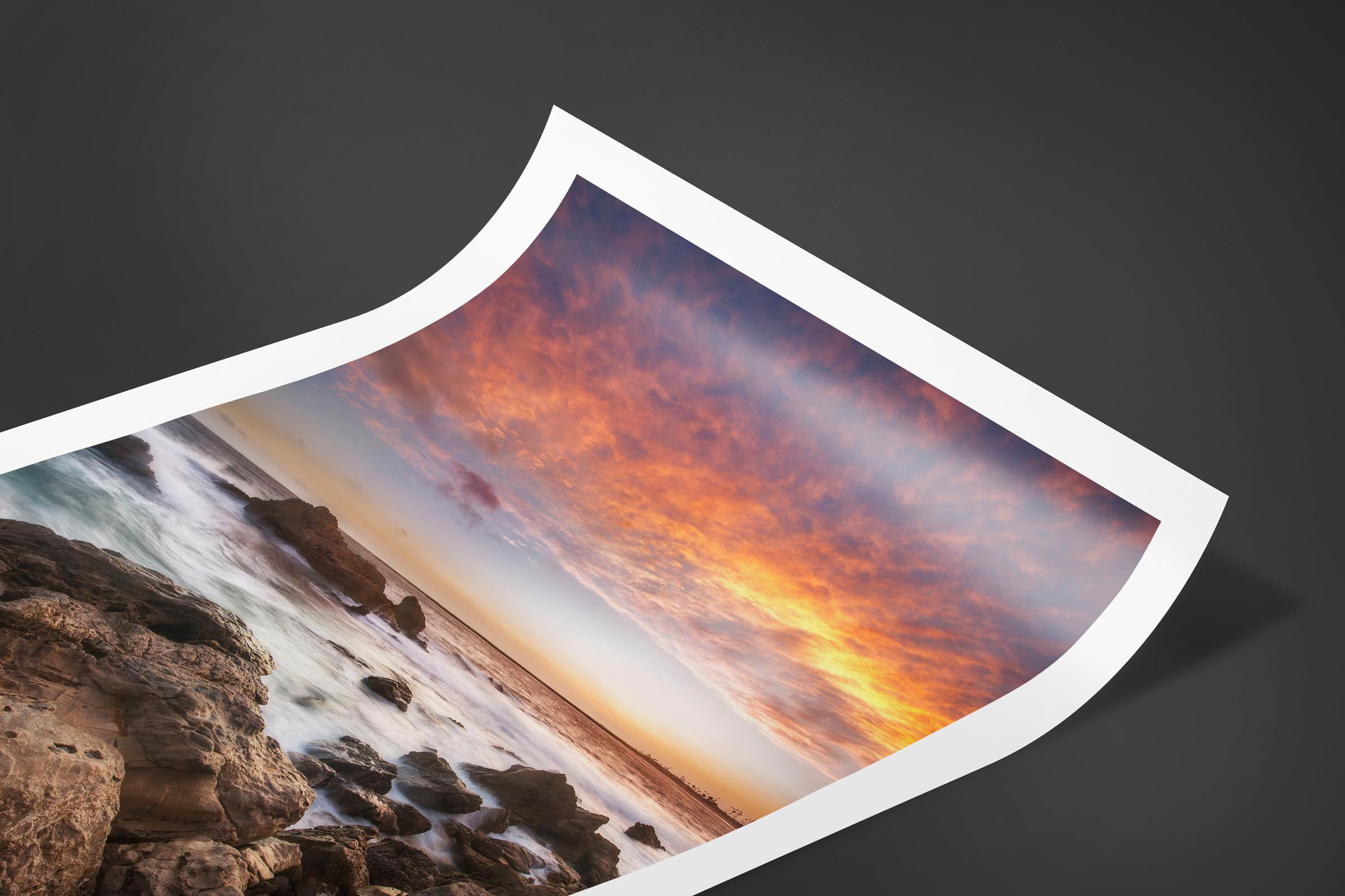 Fine art limited edition print of Ocean Sunset in Huntington Beach, California by Brent Goldman Photography
