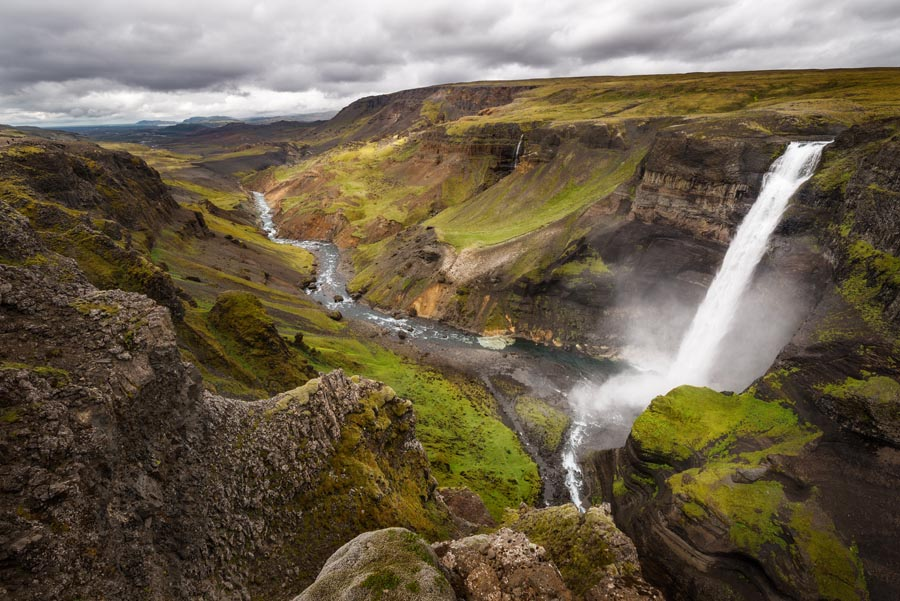 Visting Háifoss waterfall in Iceland with a 4x4 vehicle