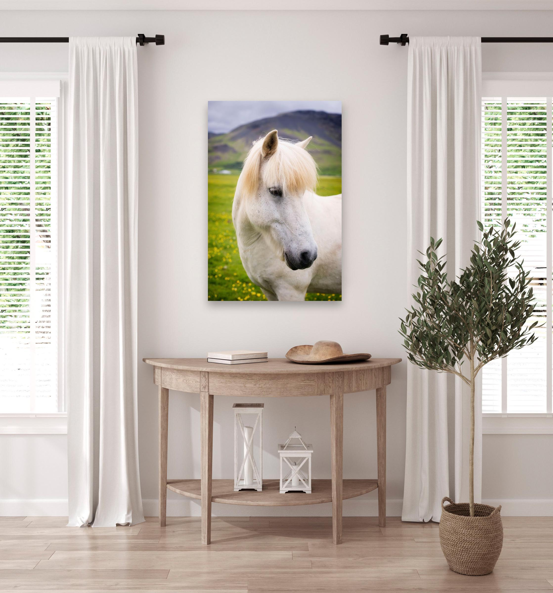 Wall art of Horse in Ring Road, Iceland by Brent Goldman Photography
