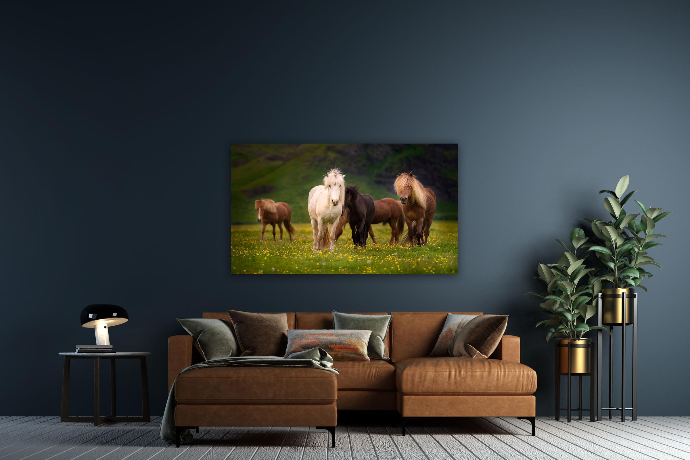 Wall art of Horses in Ring Road, Iceland by Brent Goldman Photography