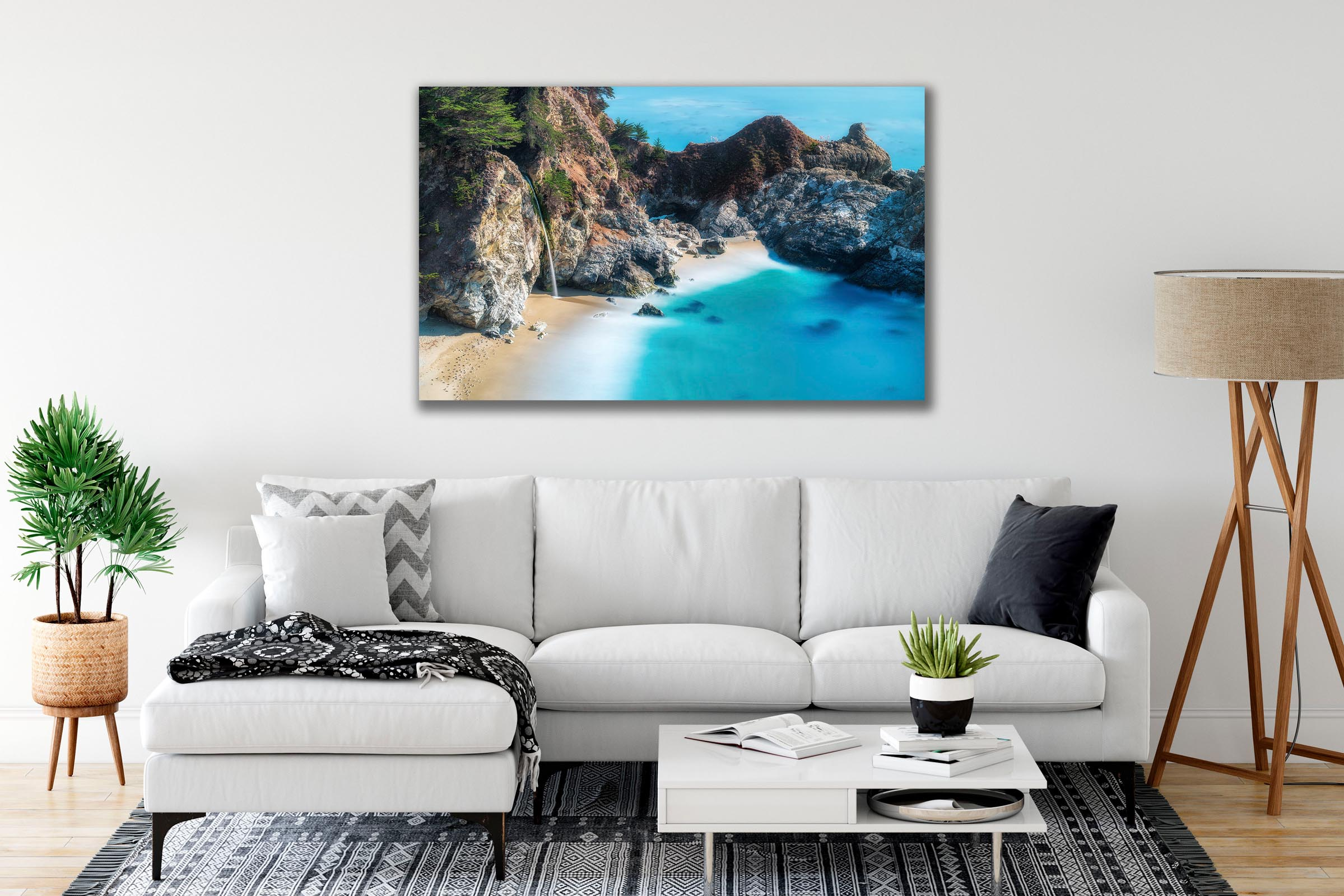 Wall art of McWay Falls in Big Sur, California by Brent Goldman Photography