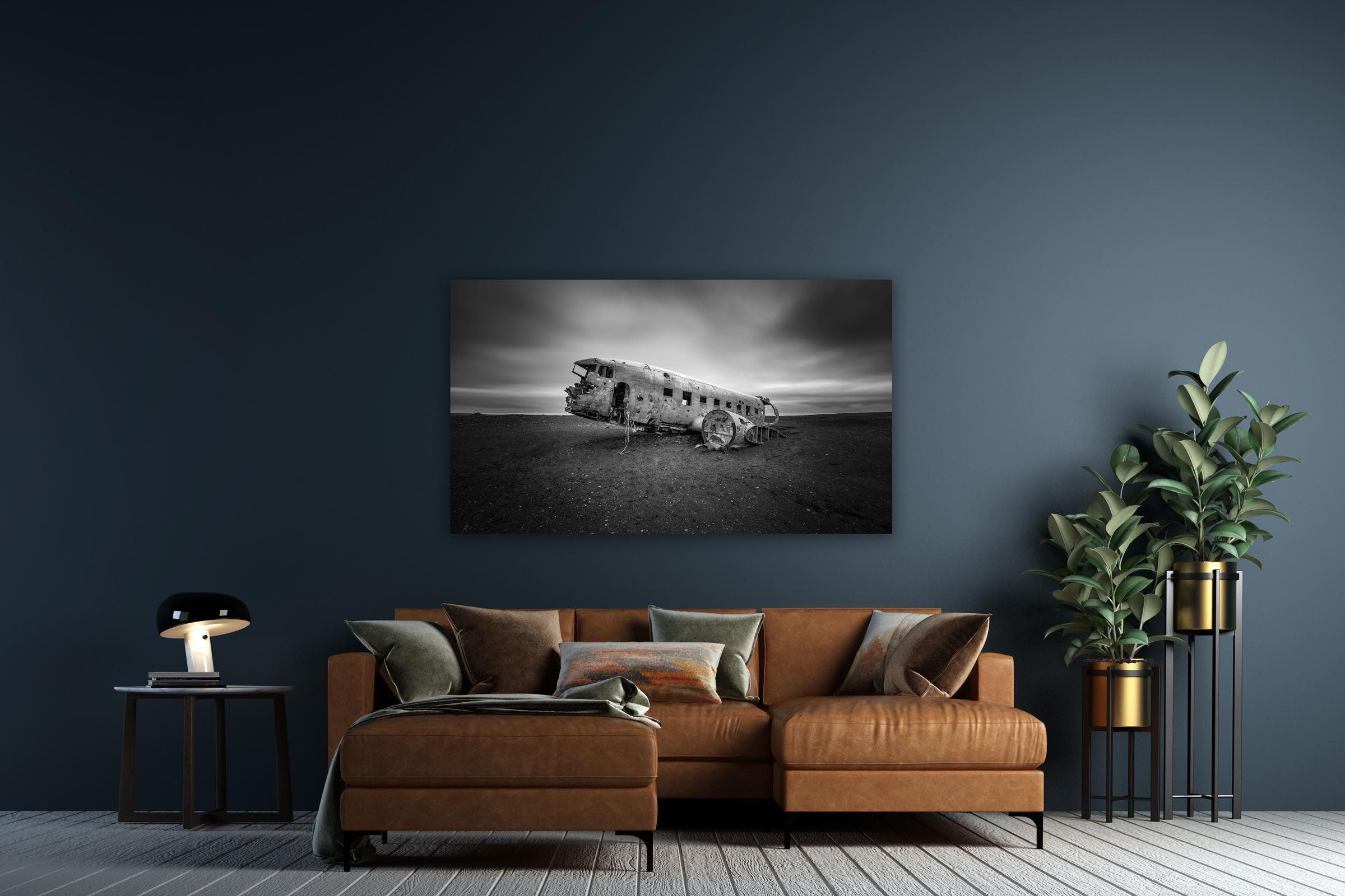Wall art of Plane Crash in Solheimasandur Beach, Iceland by Brent Goldman Photography