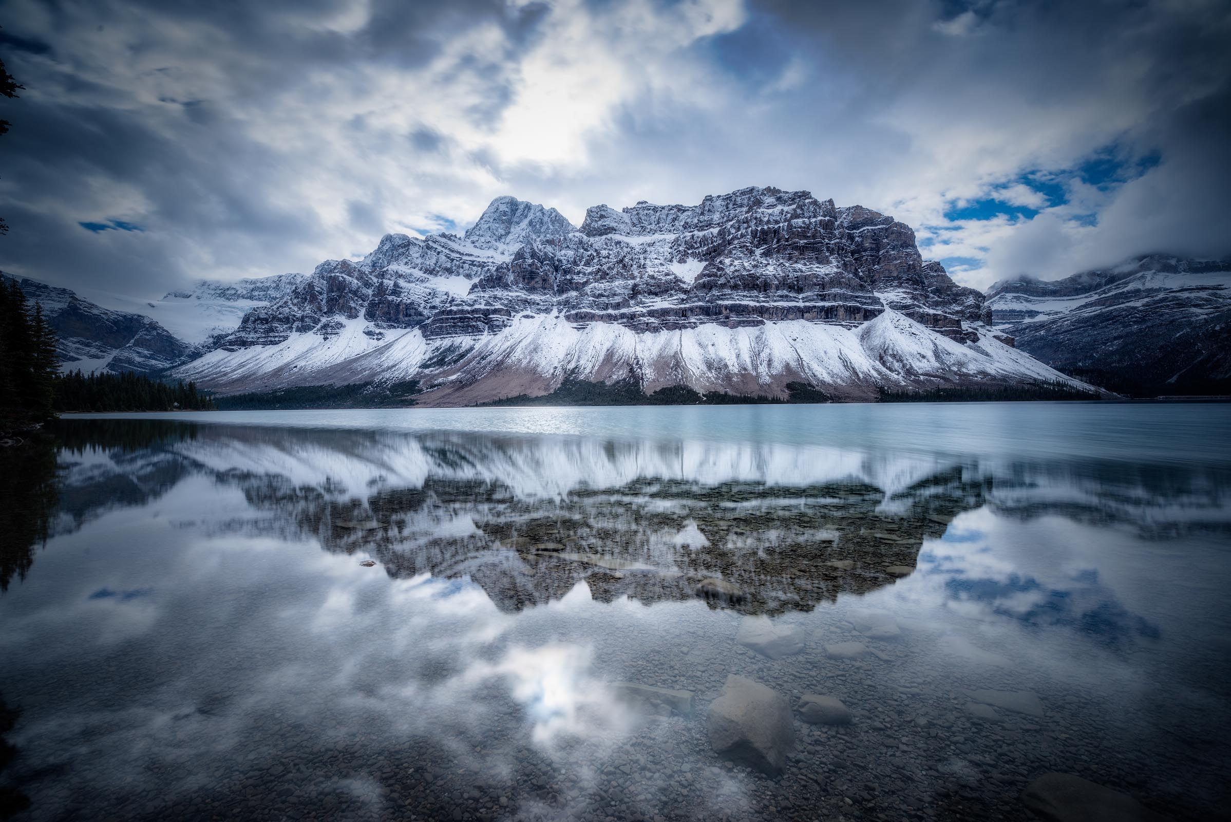 Photograph of Bow Lake in Banff, Canada by Brent Goldman Photography